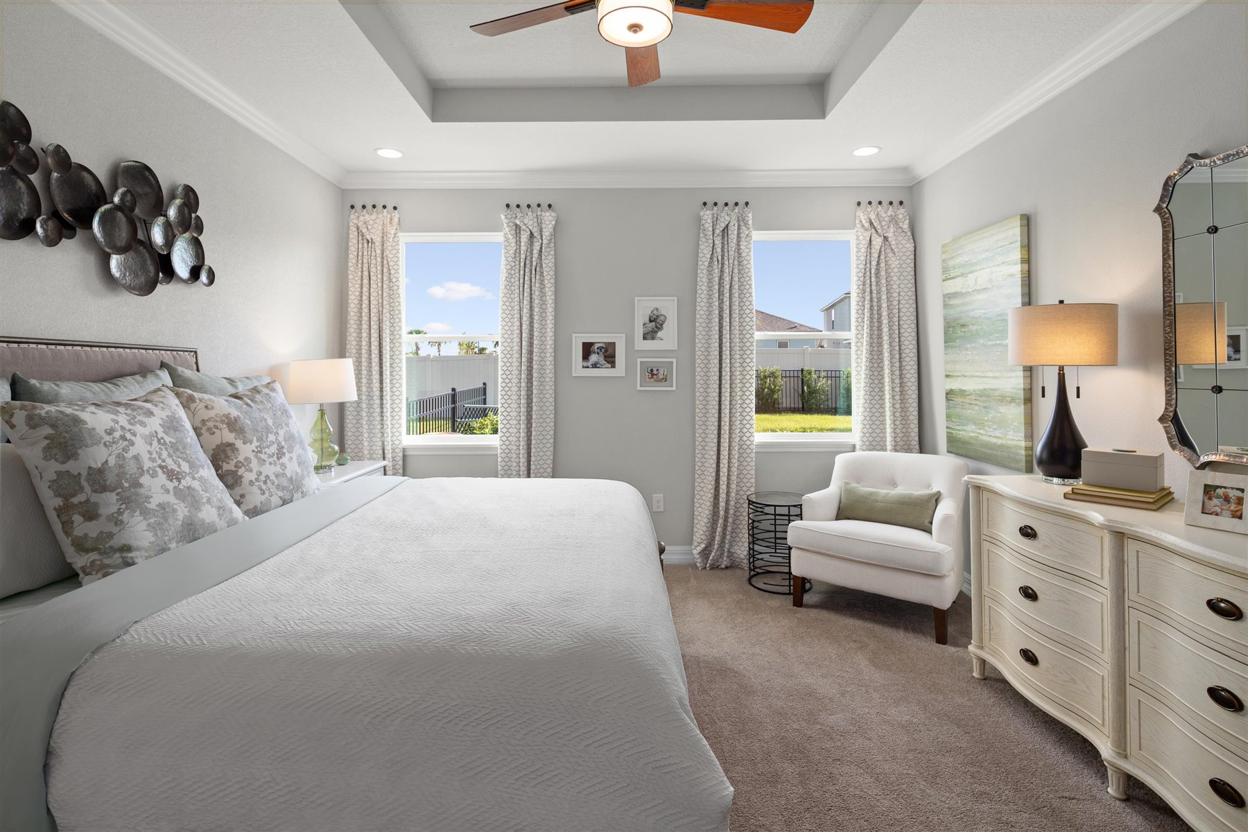 Crescent Plan Bedroom at Waterbrooke in Clermont Florida by Mattamy Homes