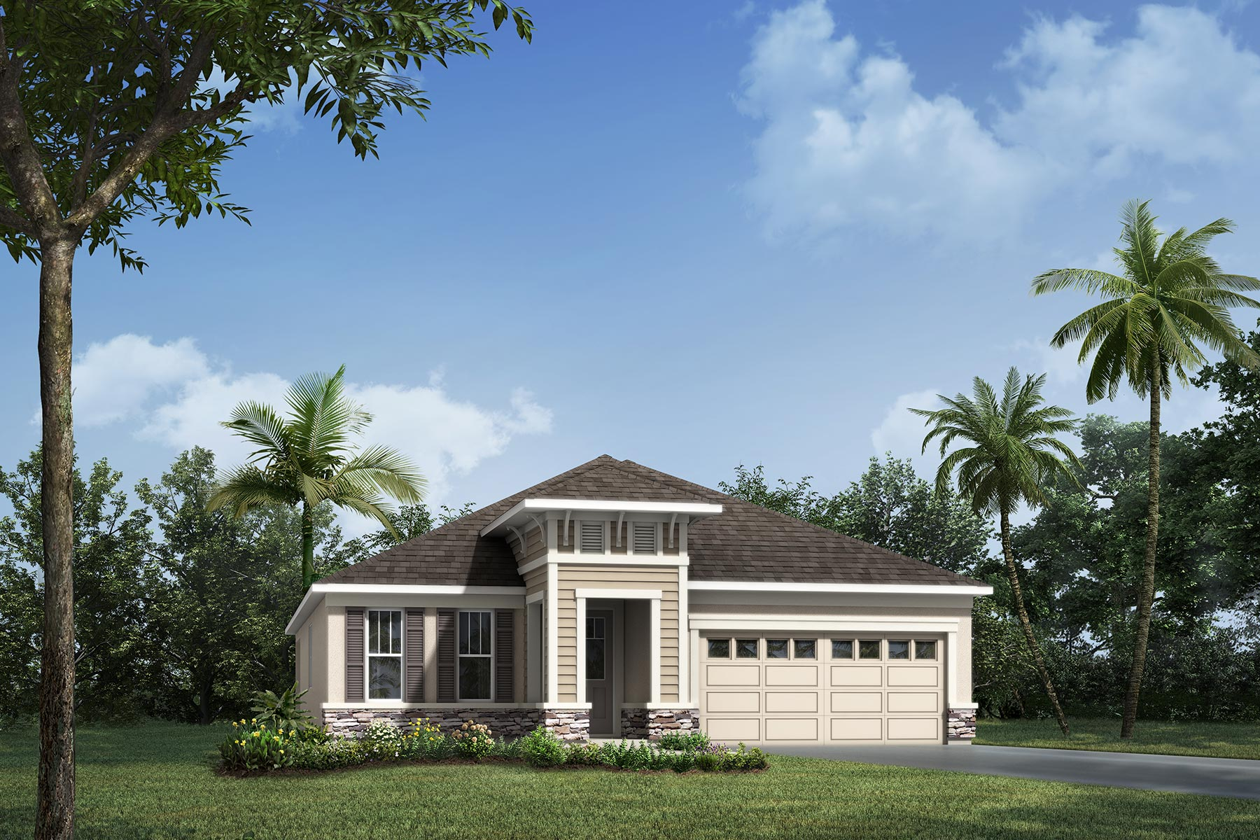 Emma Plan Elevation Front at Waterbrooke in Clermont Florida by Mattamy Homes