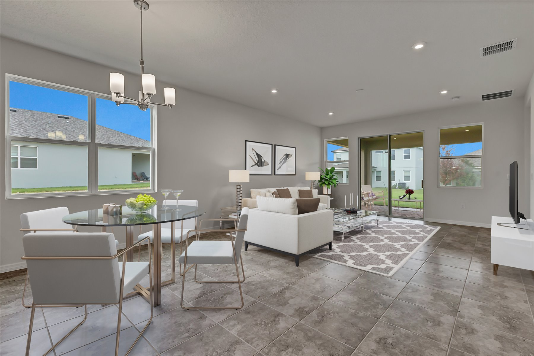 Emma Plan Dining at Waterbrooke in Clermont Florida by Mattamy Homes