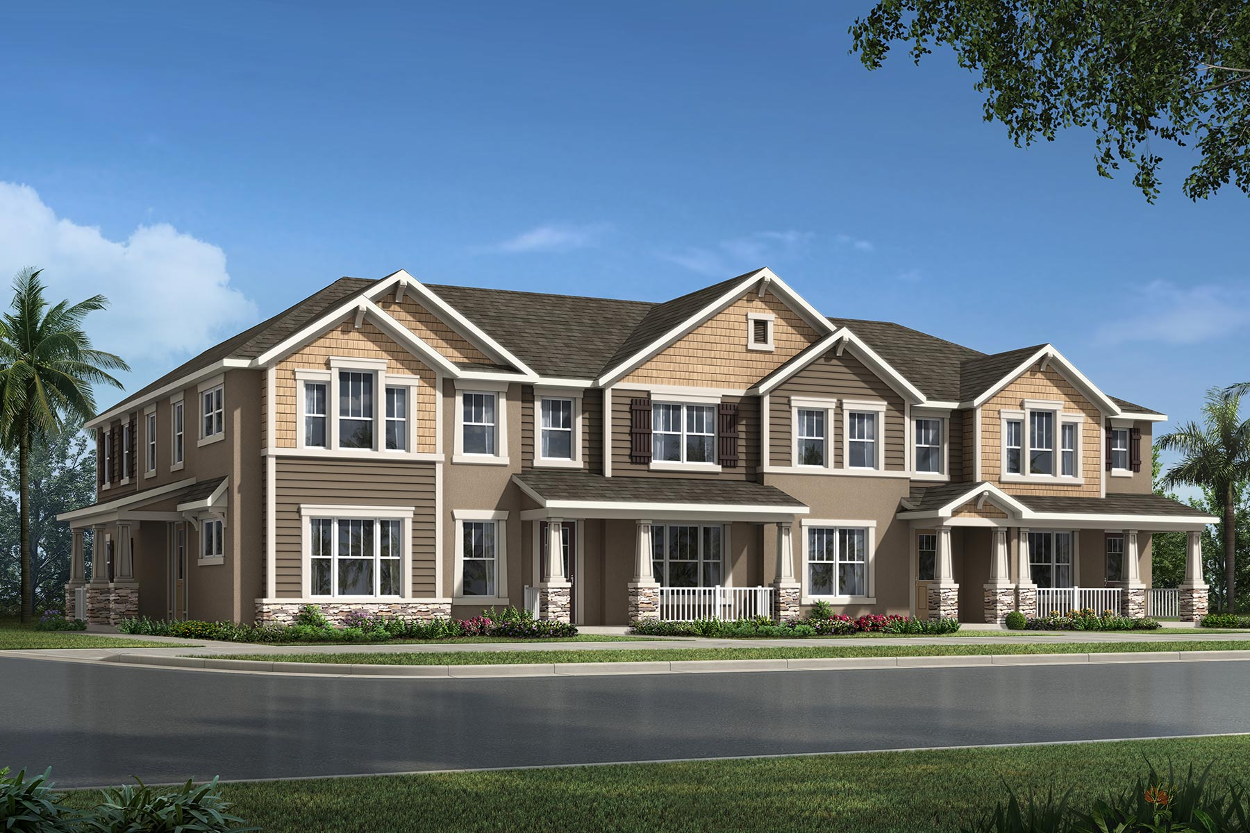 Francesca III Plan TownHomes at Waterbrooke in Clermont Florida by Mattamy Homes