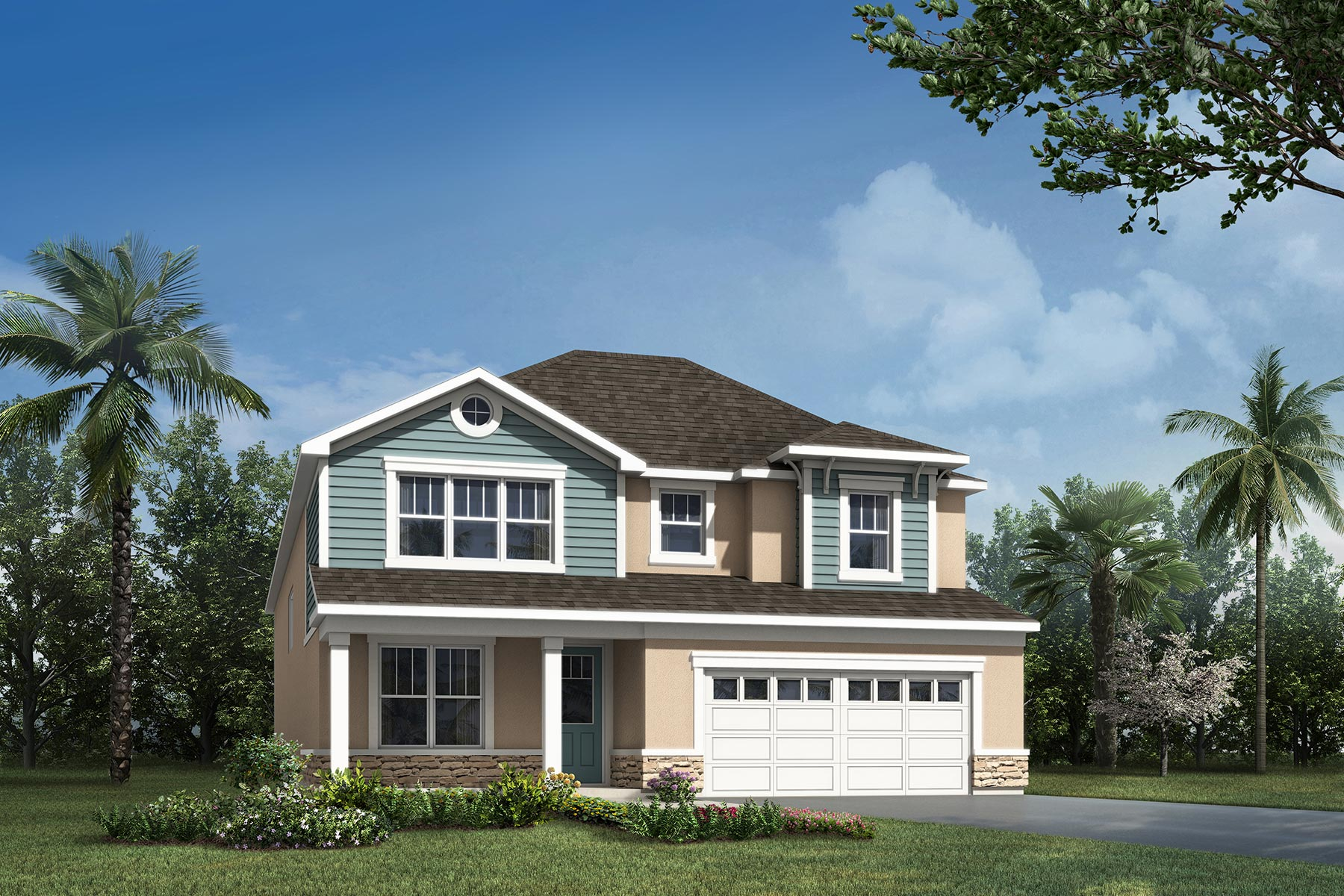 Griffin Plan Elevation Front at Waterbrooke in Clermont Florida by Mattamy Homes