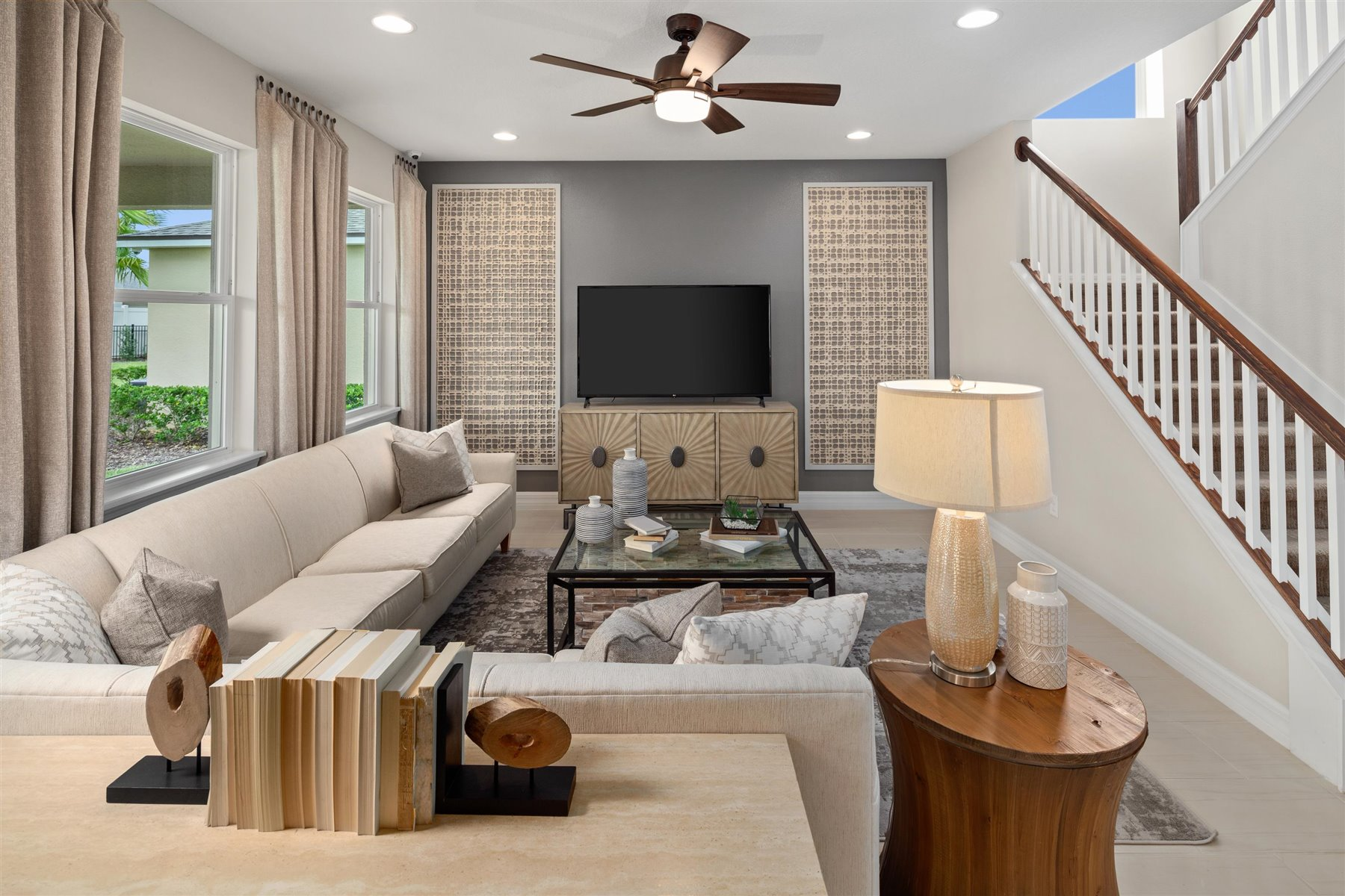 Griffin Plan Greatroom at Waterbrooke in Clermont Florida by Mattamy Homes
