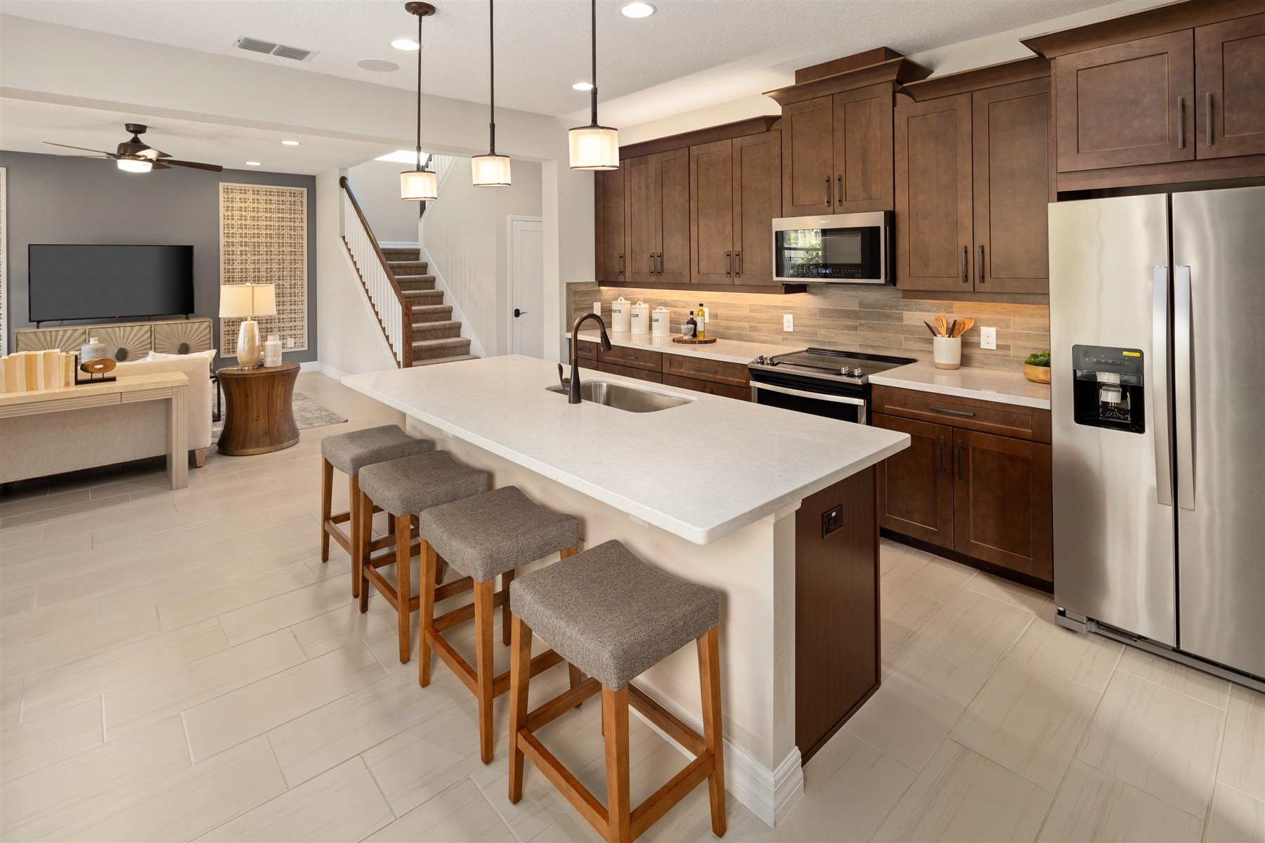 Griffin Plan Kitchen at Waterbrooke in Clermont Florida by Mattamy Homes