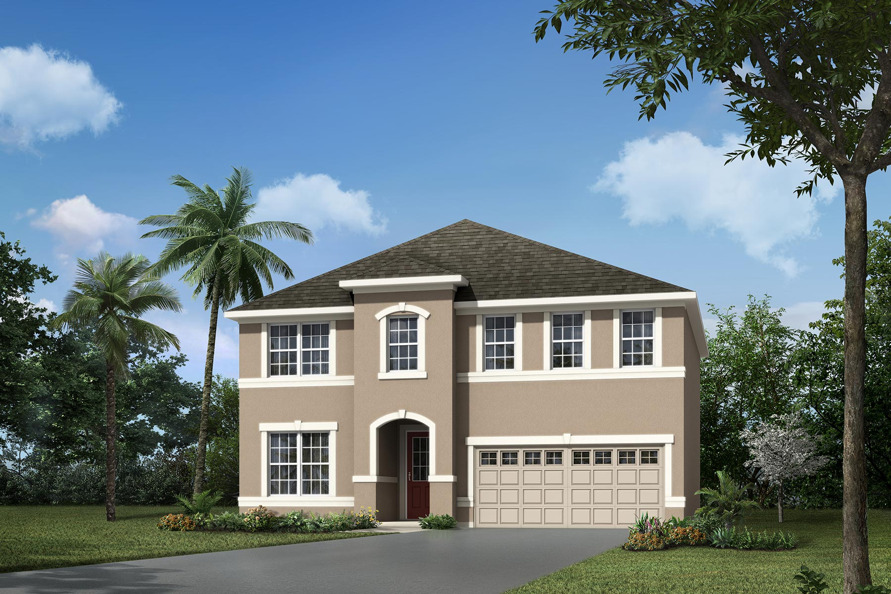 Louisa Plan Elevation Front at Waterbrooke in Clermont Florida by Mattamy Homes