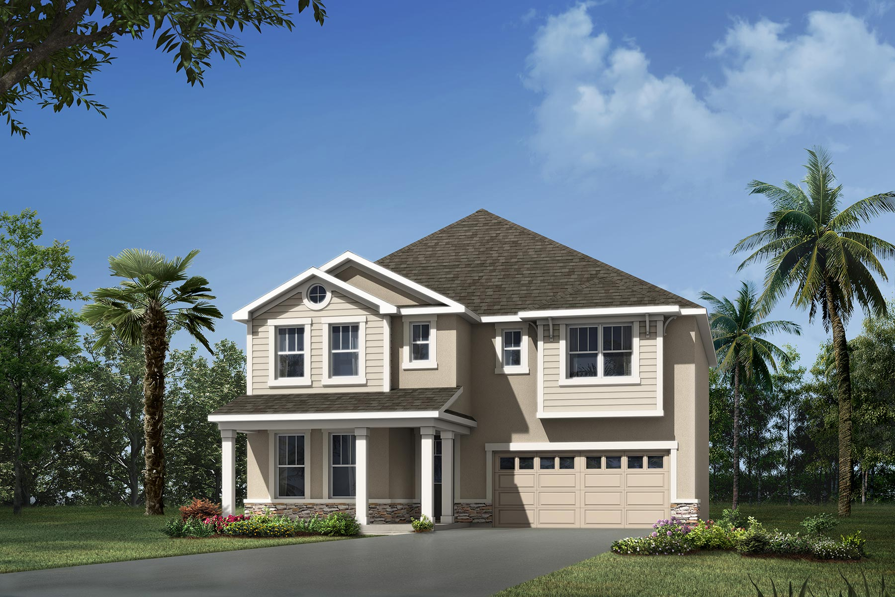 Lucy Plan Elevation Front at Waterbrooke in Clermont Florida by Mattamy Homes