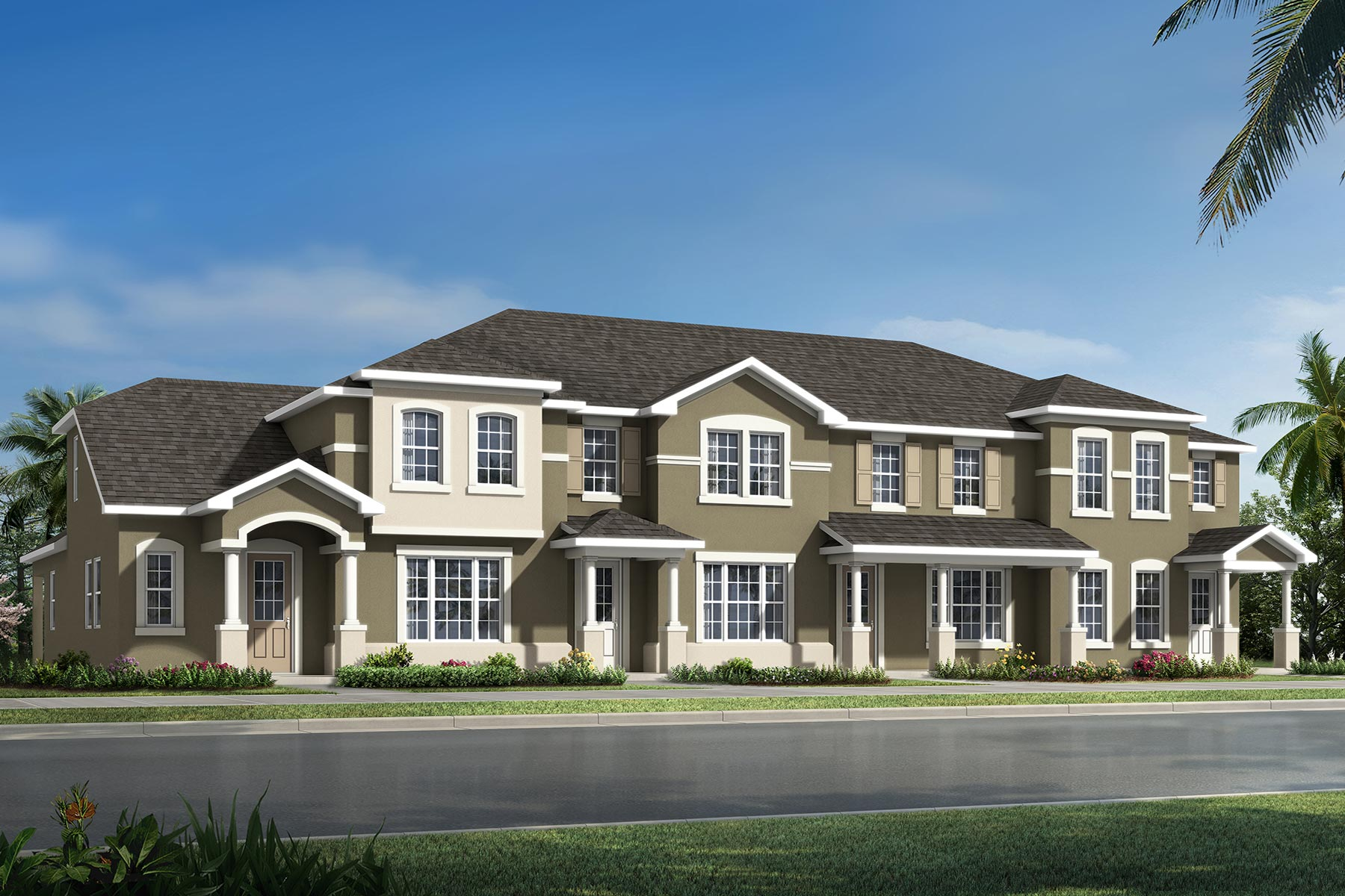 Selena III Plan TownHomes at Waterbrooke in Clermont Florida by Mattamy Homes