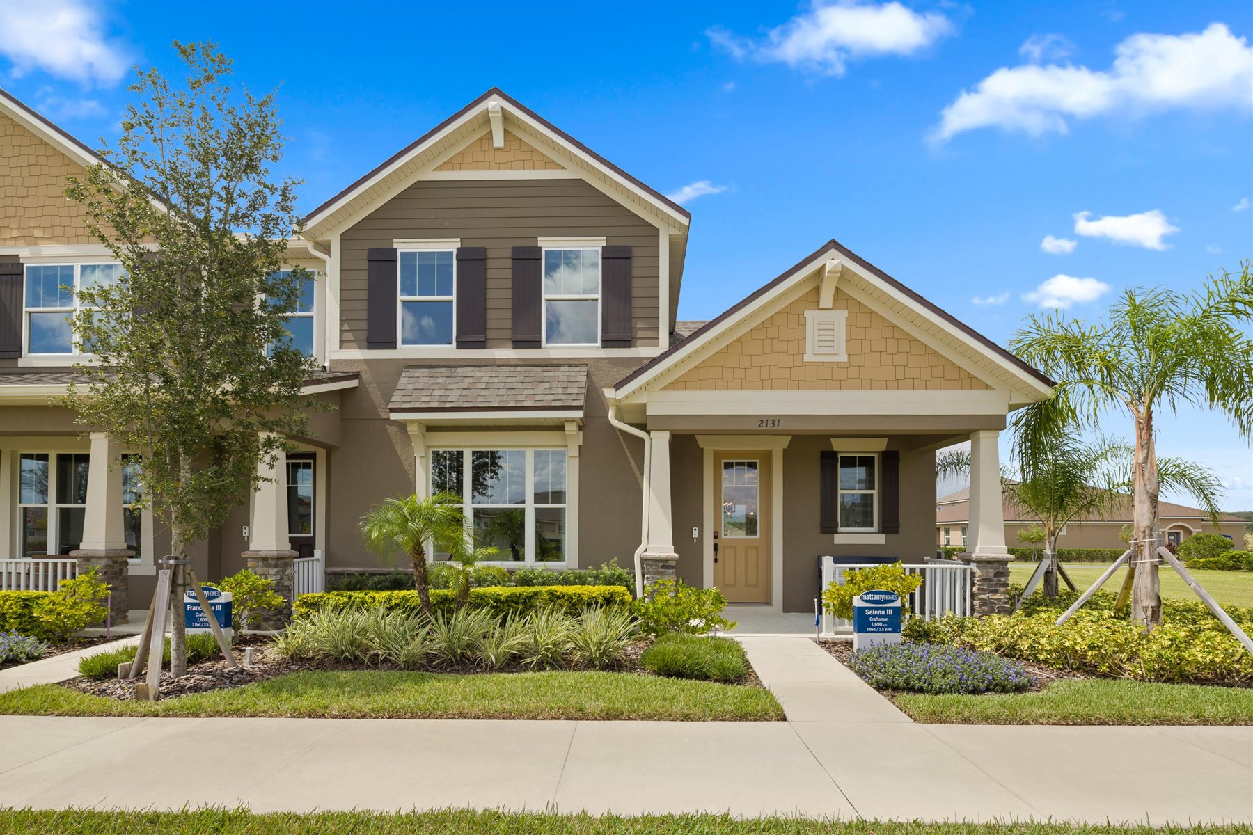 Selena III Plan Elevation Front at Waterbrooke in Clermont Florida by Mattamy Homes