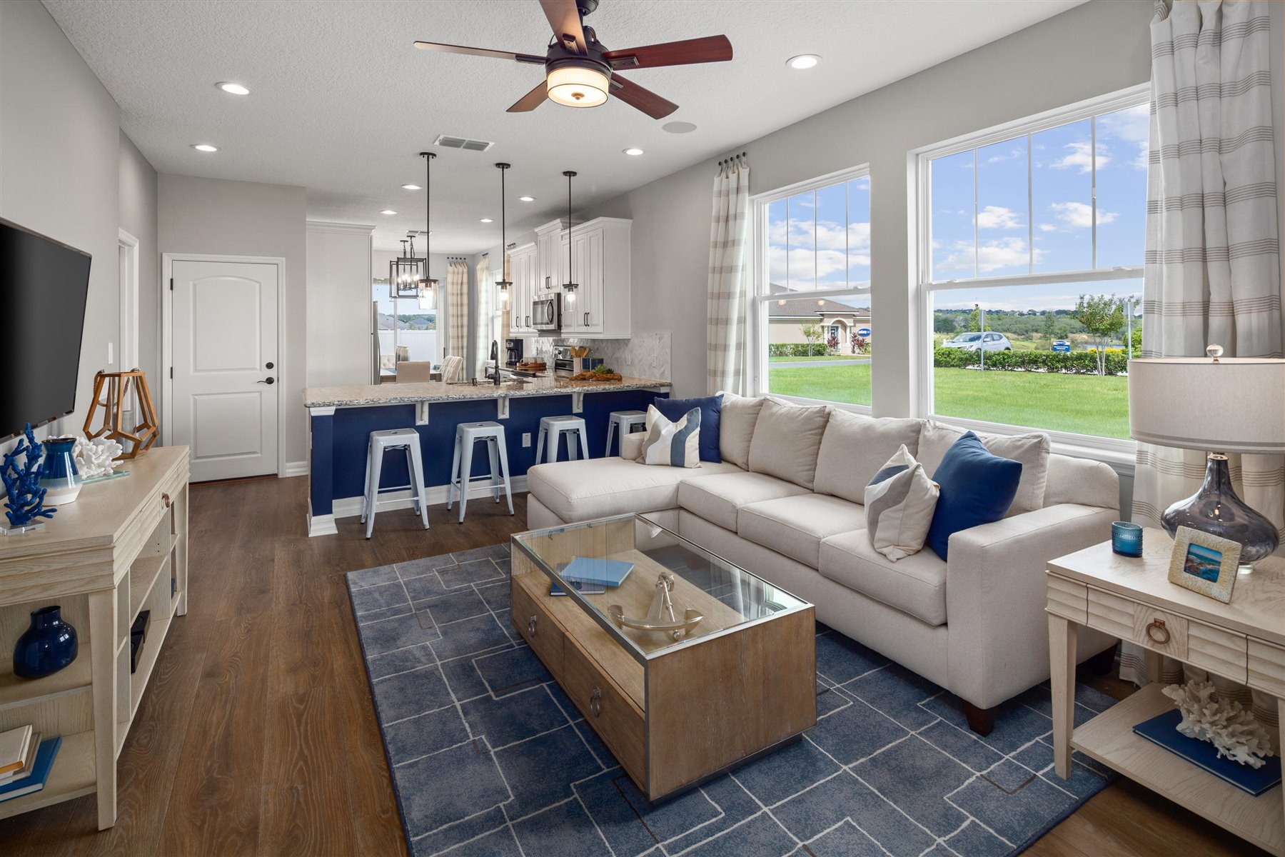 Selena III Plan Greatroom at Waterbrooke in Clermont Florida by Mattamy Homes