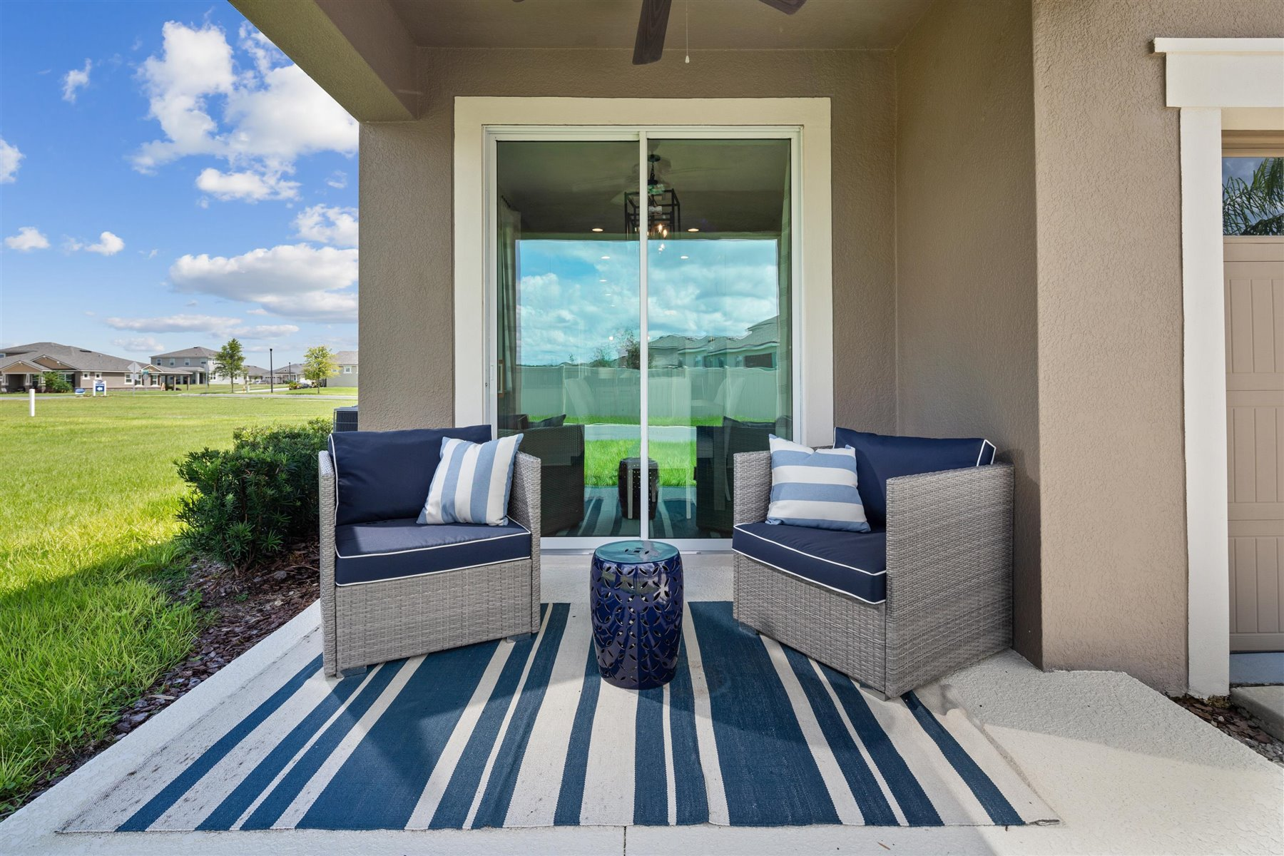 Selena III Plan Patio at Waterbrooke in Clermont Florida by Mattamy Homes