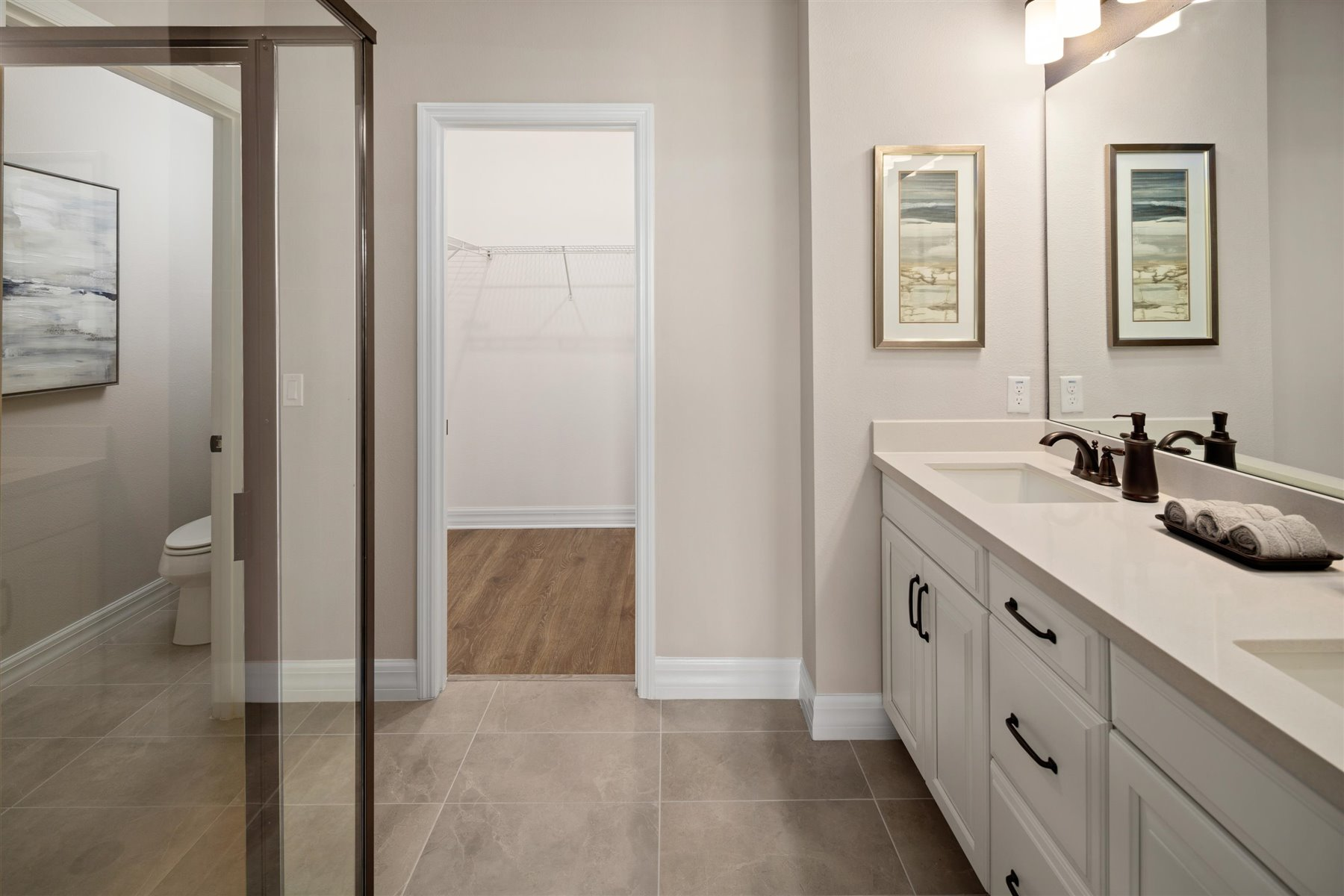 Selena III Plan Bathroom_Master Bath at Waterbrooke in Clermont Florida by Mattamy Homes