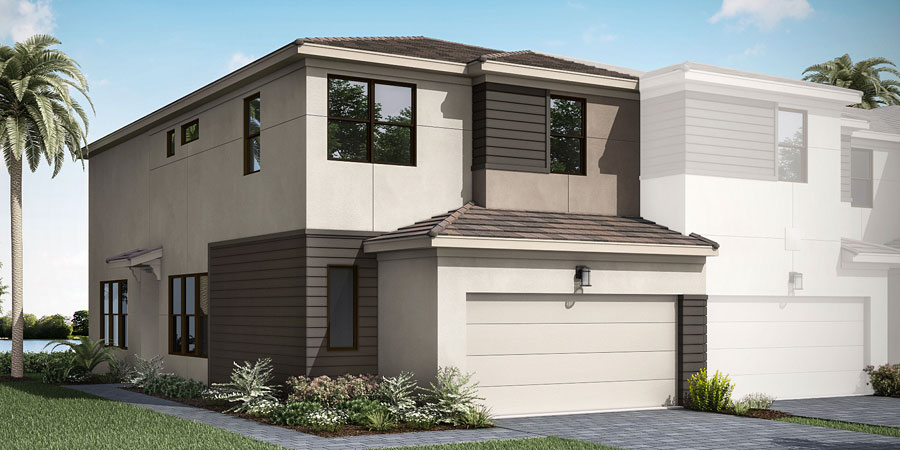 Ellery Plan Elevation Front at Saddlewood in Lake Worth Florida by Mattamy Homes