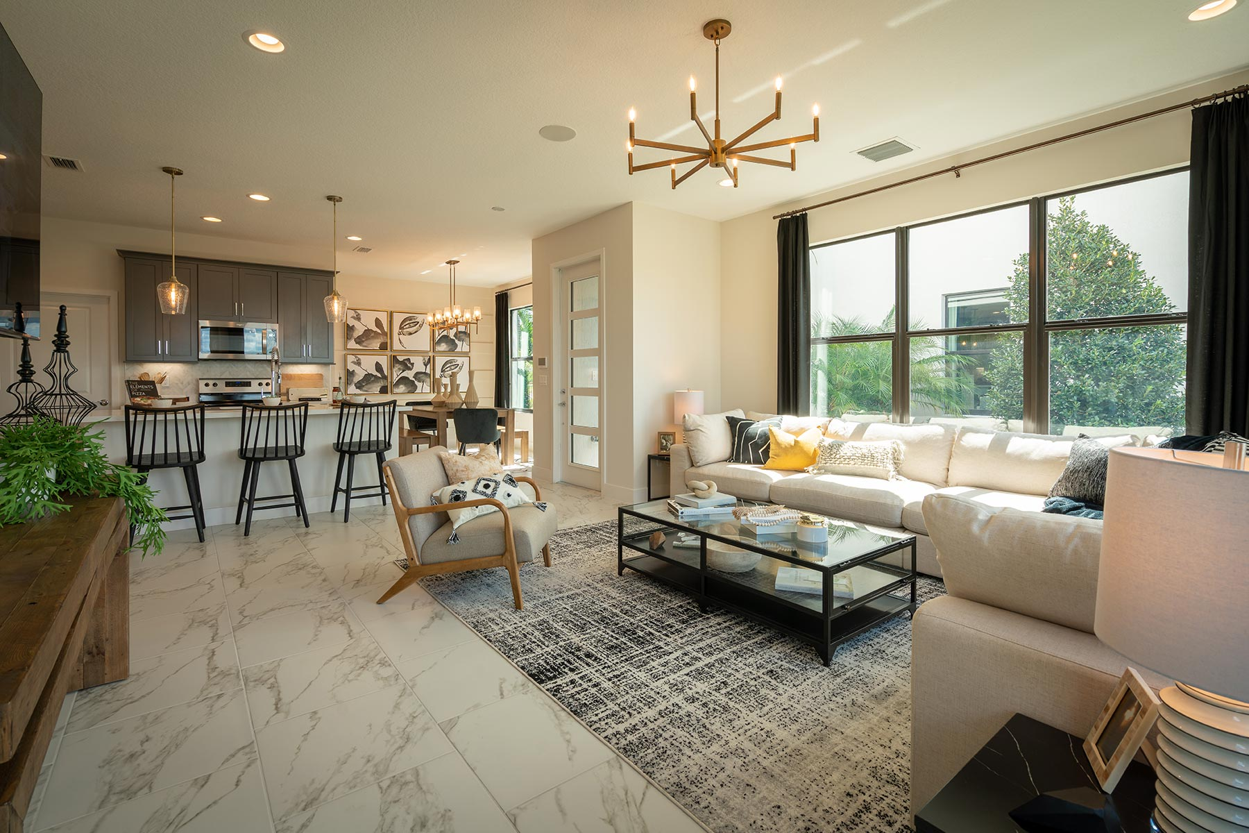 Ellery Plan Greatroom at Saddlewood in Lake Worth Florida by Mattamy Homes