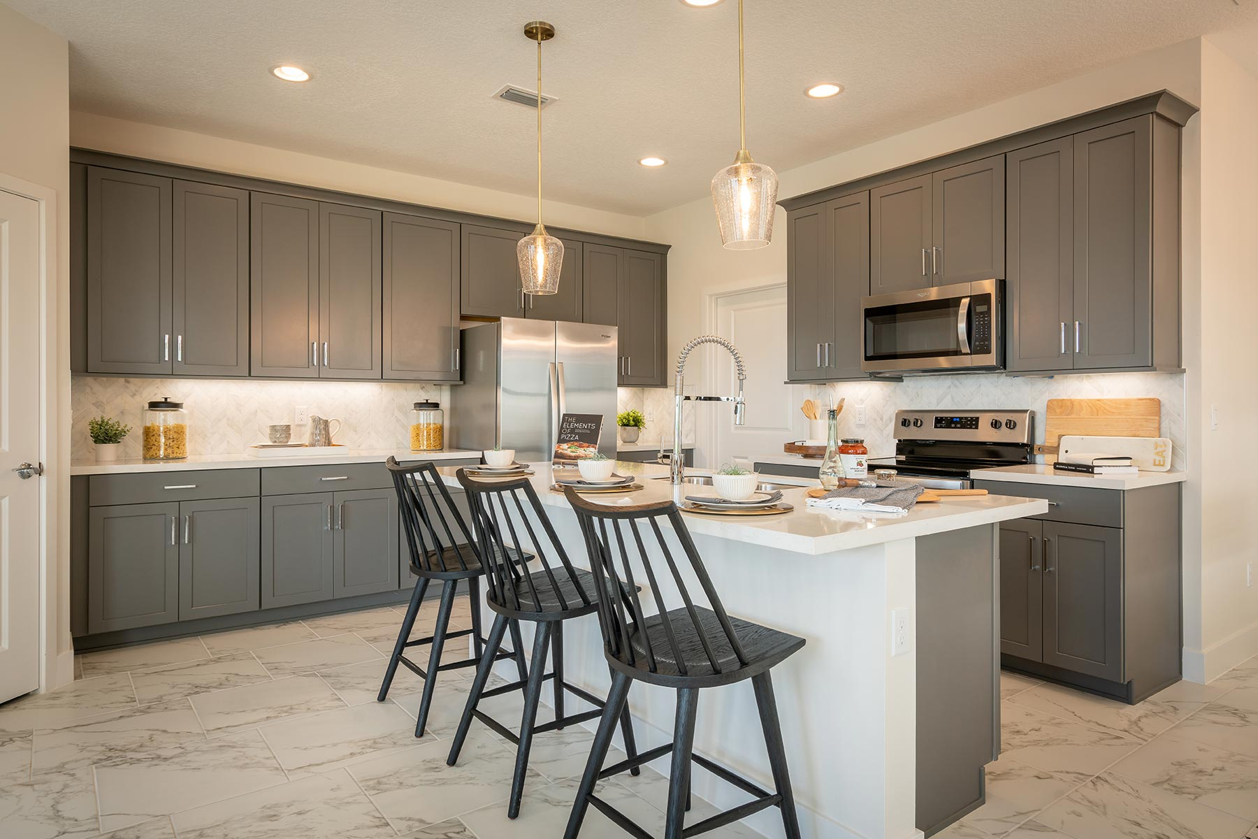 Ellery Plan Kitchen at Saddlewood in Lake Worth Florida by Mattamy Homes