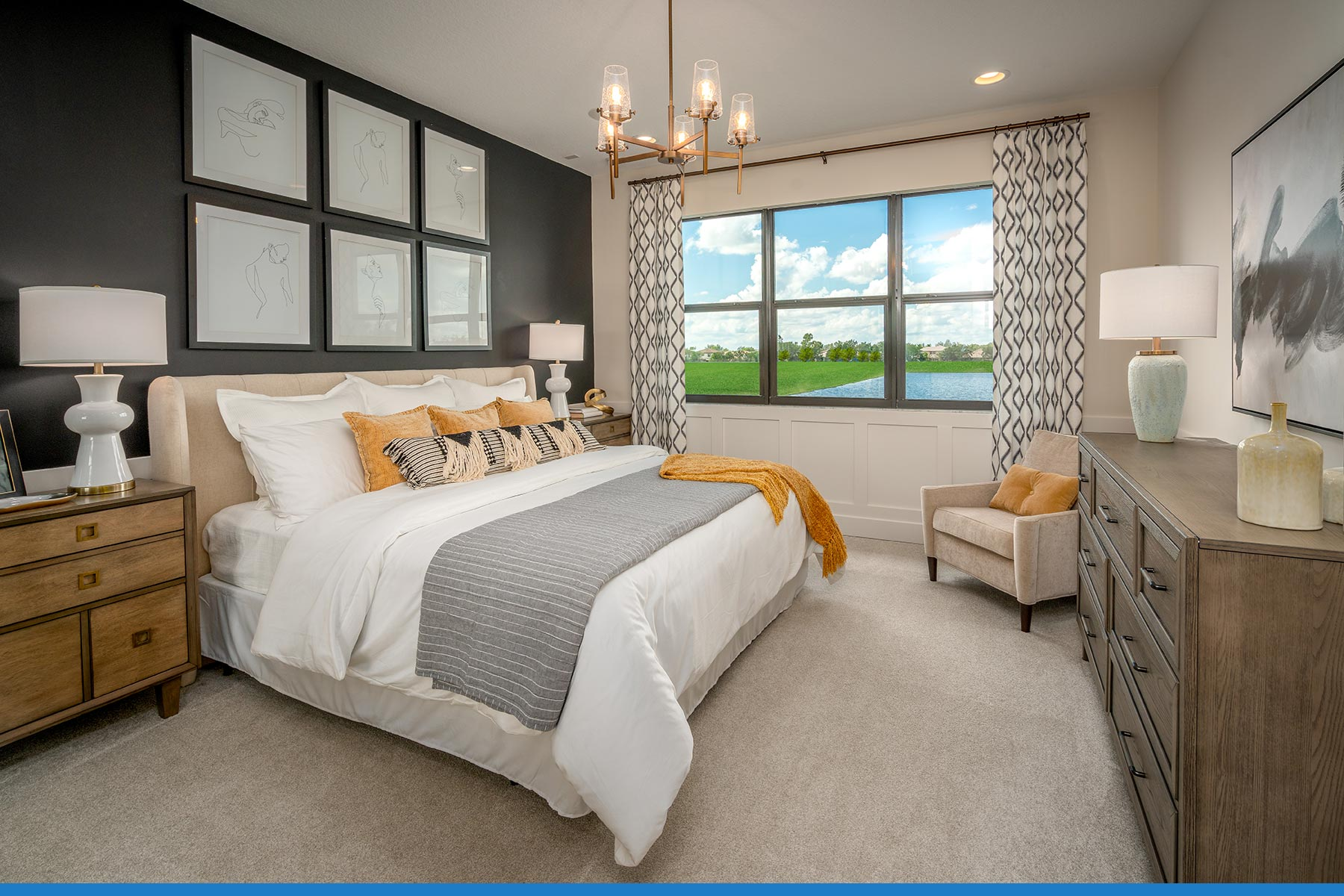 Ellery Plan Bedroom at Saddlewood in Lake Worth Florida by Mattamy Homes