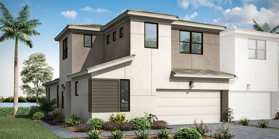 Ivy Plan Elevation Front at Saddlewood in Lake Worth Florida by Mattamy Homes