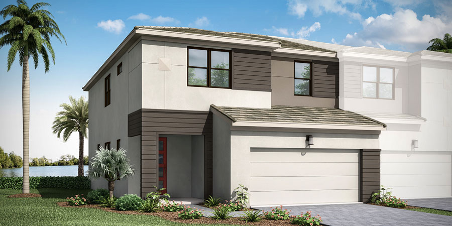 Oakley Plan ElevationContemporary_Saddlewood_Oakley_900x450 at Saddlewood in Lake Worth Florida by Mattamy Homes