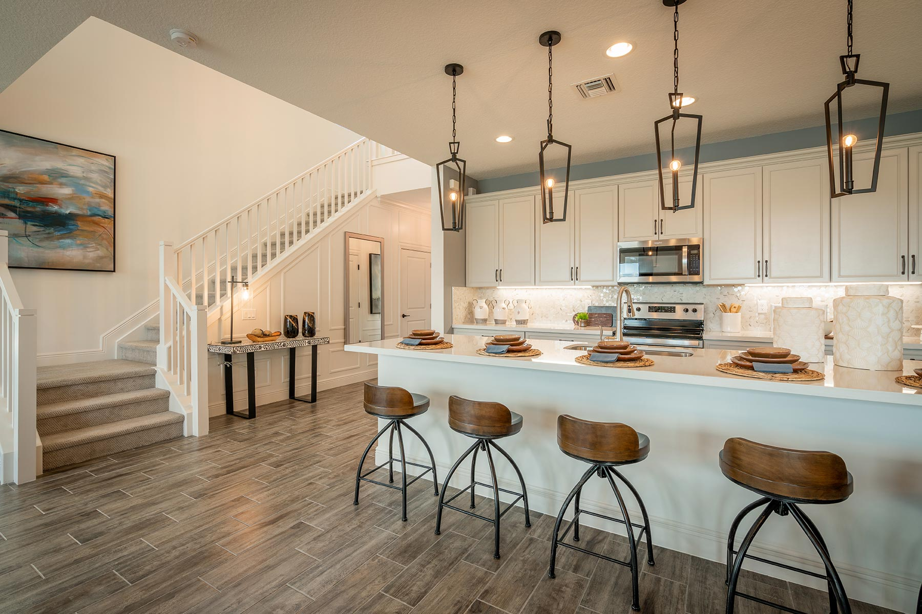 Oakley Plan Kitchen at Saddlewood in Lake Worth Florida by Mattamy Homes