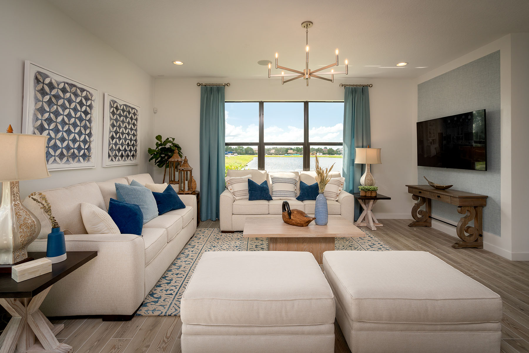 Sunbrooke Plan Greatroom at Saddlewood in Lake Worth Florida by Mattamy Homes