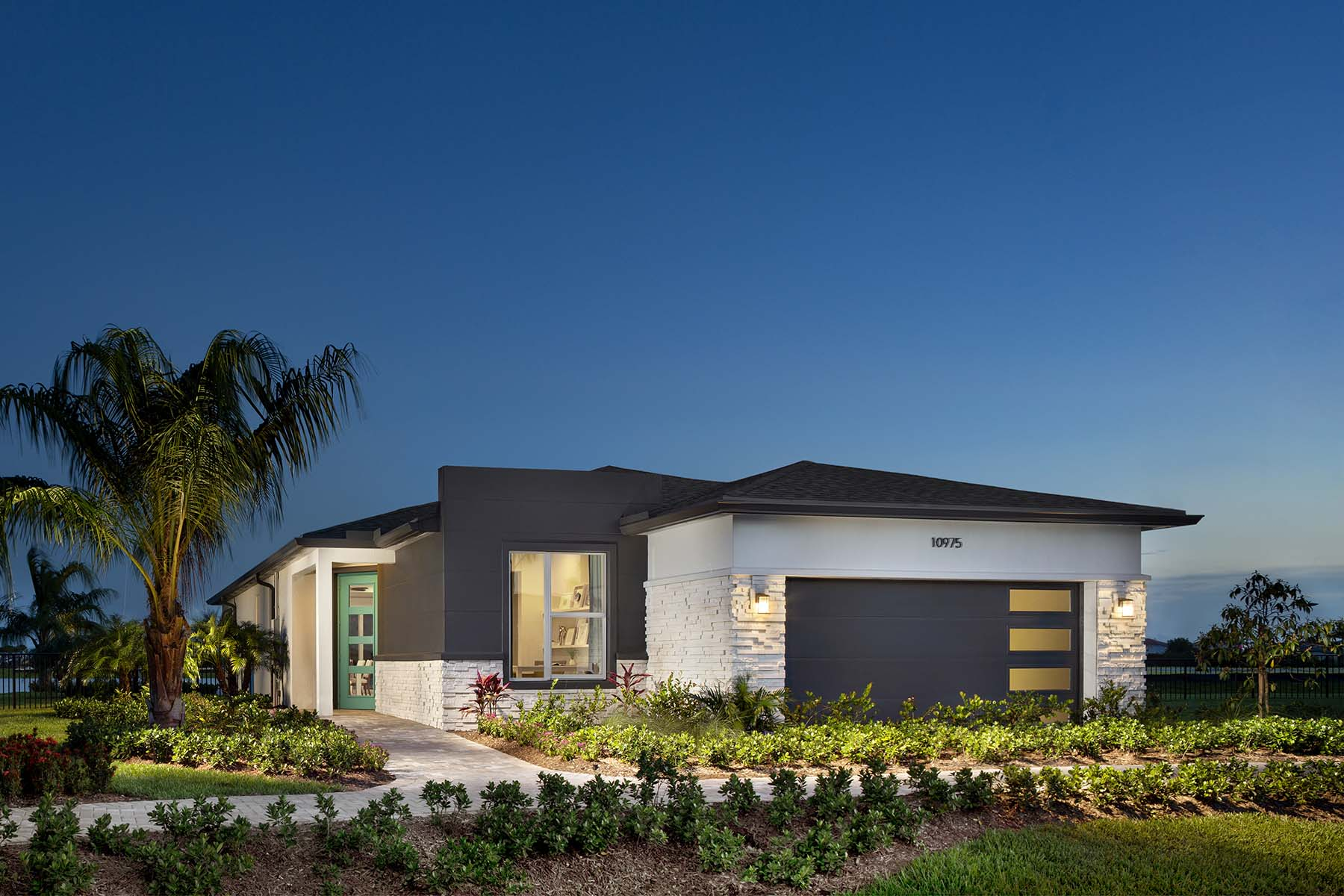 Aspen Plan Elevation Front at Solcera in West Palm Beach Florida by Mattamy Homes