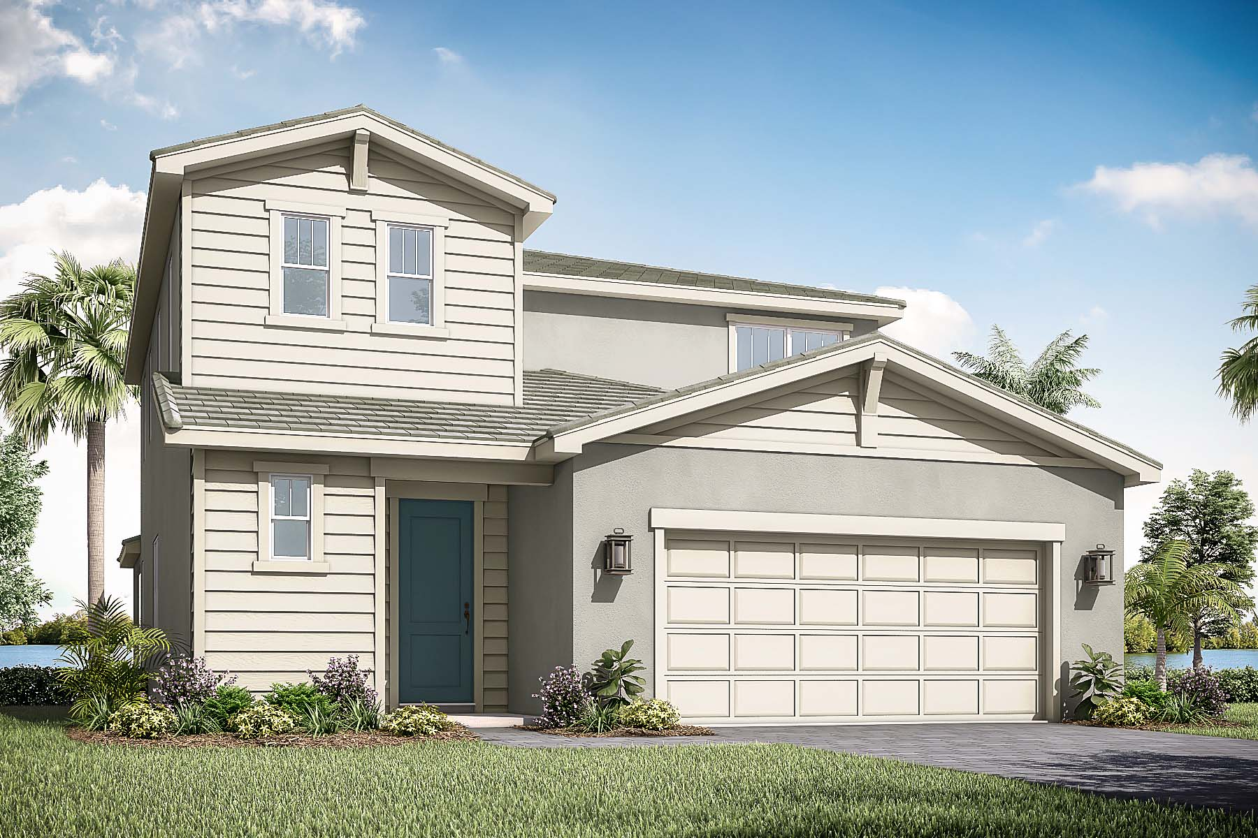 Hayden Plan Elevation Front at Solcera in West Palm Beach Florida by Mattamy Homes