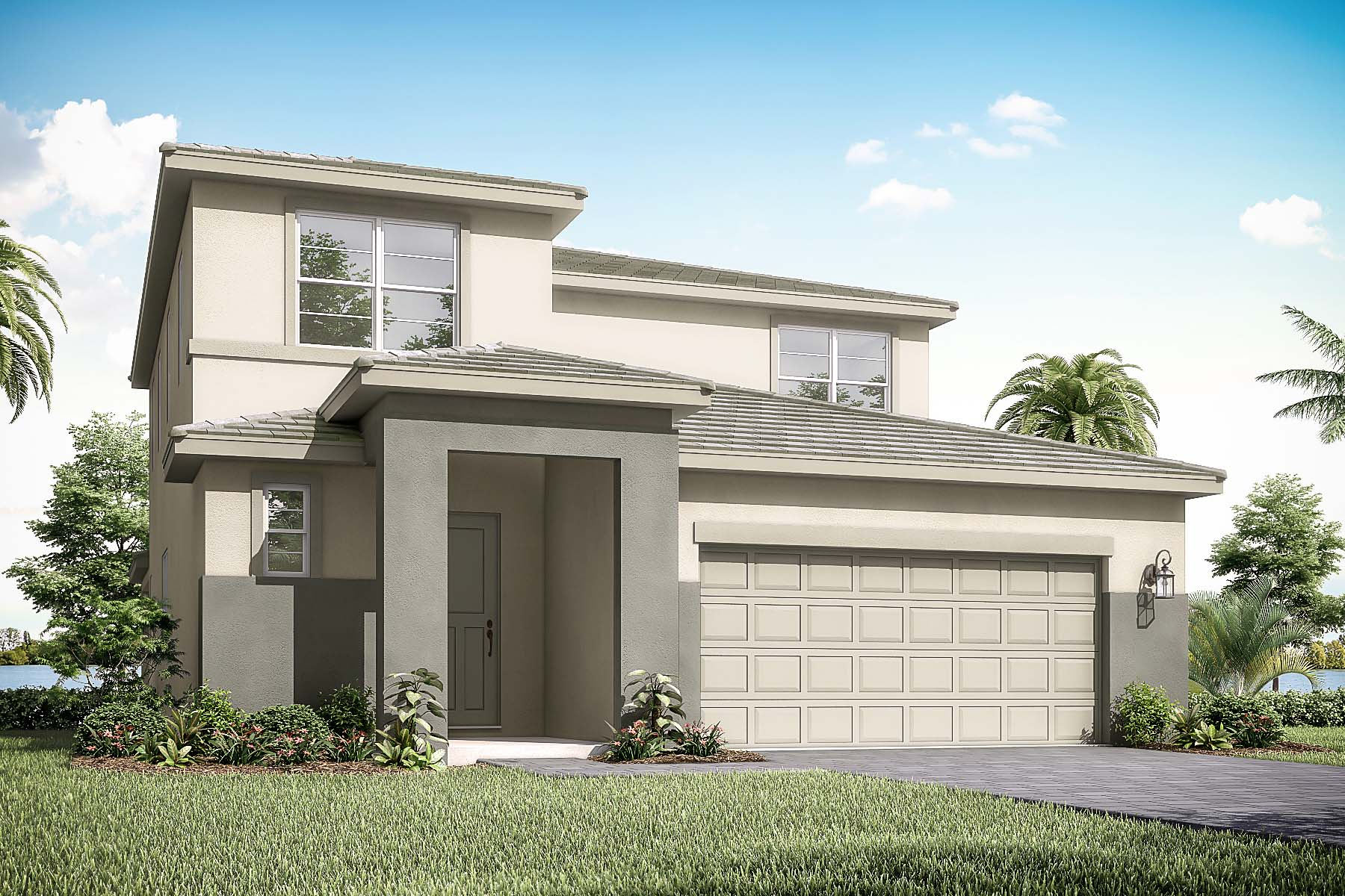 Danbury Plan Elevation Front at Solcera in West Palm Beach Florida by Mattamy Homes