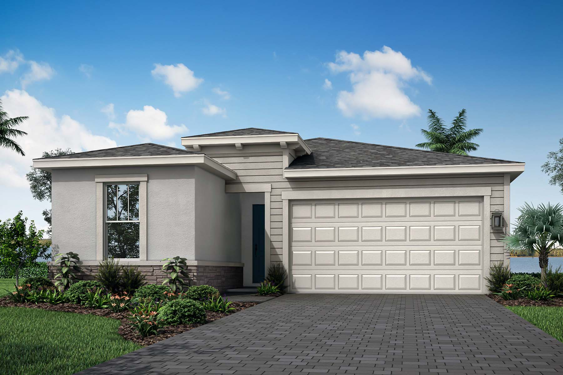 Sabal Plan Elevation Front at Solcera in West Palm Beach Florida by Mattamy Homes