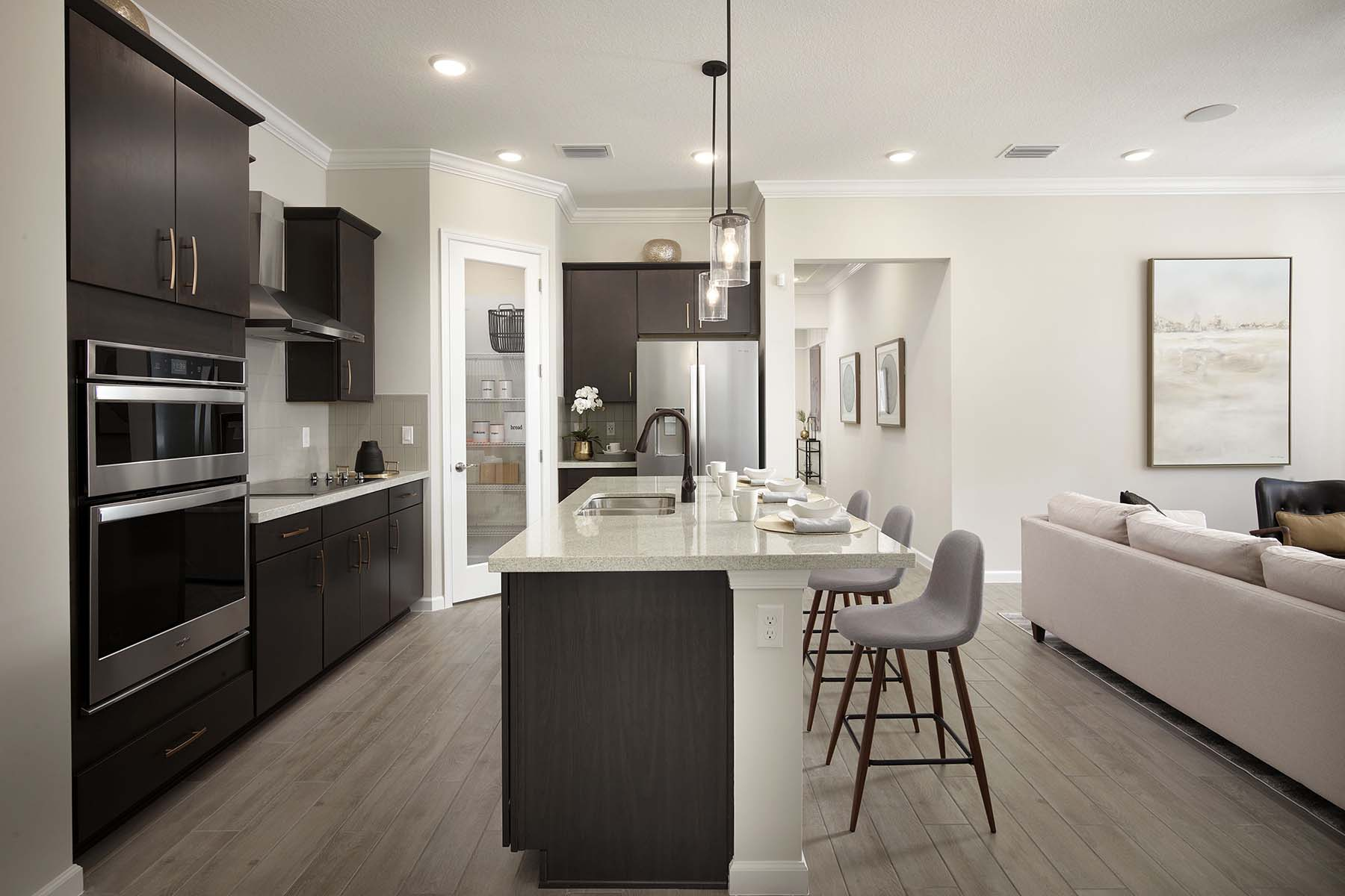Sabal Plan Kitchen at Solcera in West Palm Beach Florida by Mattamy Homes
