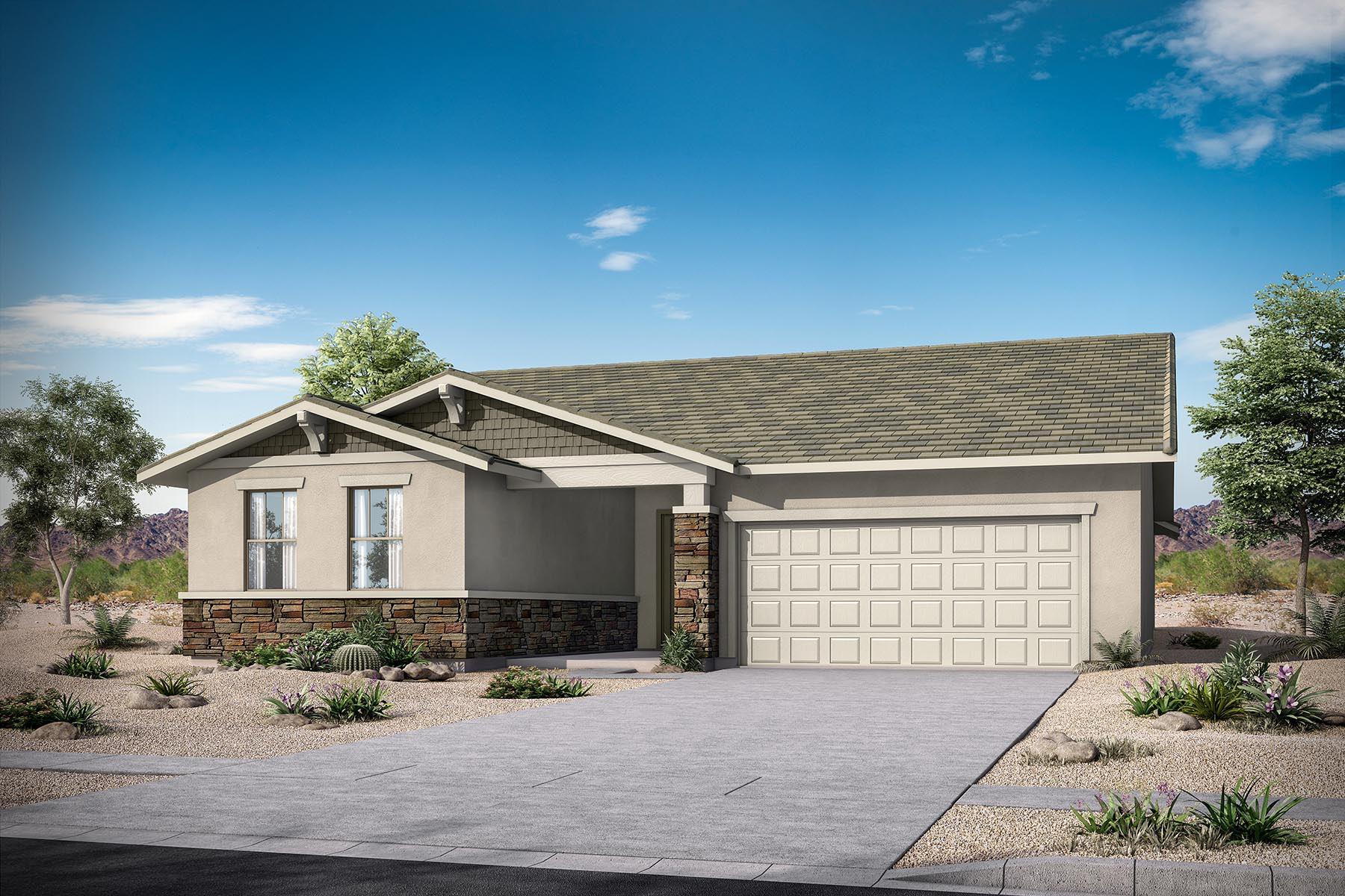 Aries Plan Elevation Front at Azure Canyon in Litchfield Park Arizona by Mattamy Homes