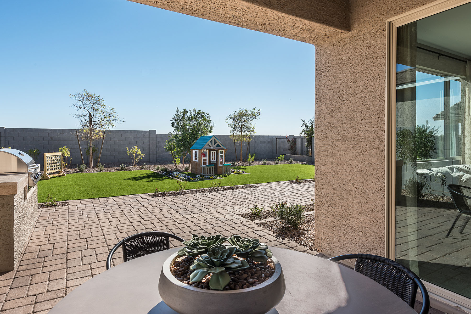 Aries Plan Patio at Azure Canyon in Litchfield Park Arizona by Mattamy Homes