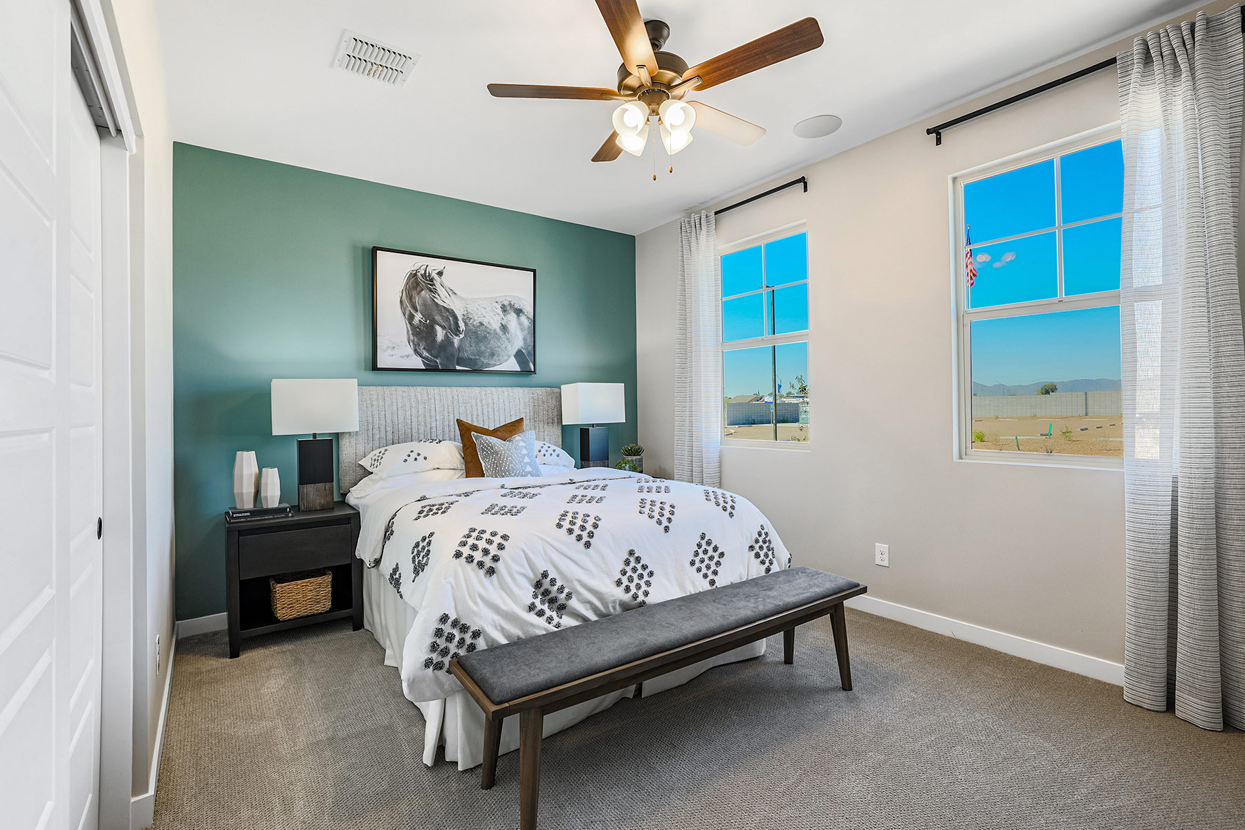 Aries Plan Bedroom at Azure Canyon in Litchfield Park Arizona by Mattamy Homes