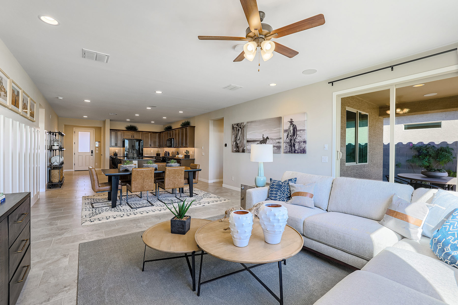 Aries Plan MATPHX_AZC_Aries_GR_Dining_Kitchen_1800x1200 at Azure Canyon in Litchfield Park Arizona by Mattamy Homes