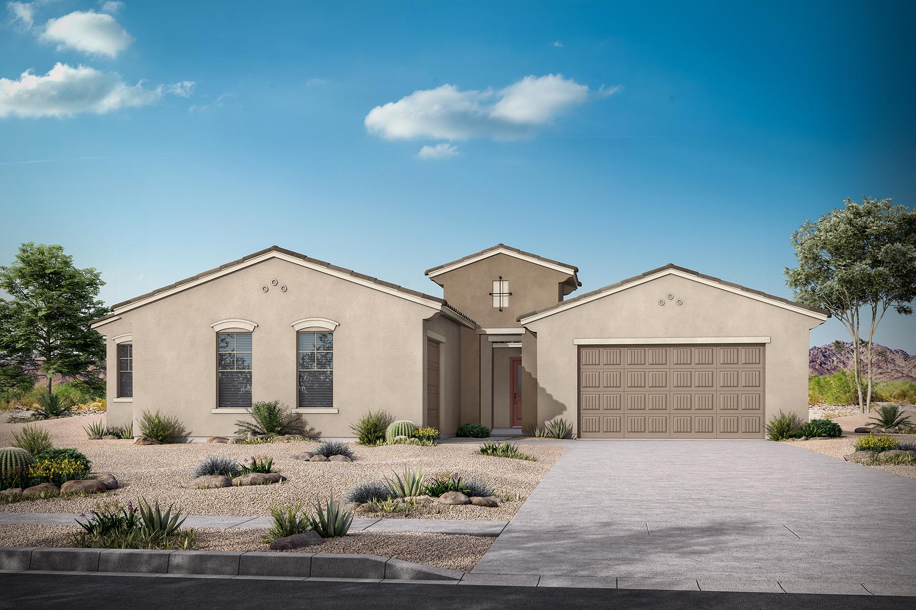 Aries Plan Elevation Front at Azure Canyon in Goodyear Arizona by Mattamy Homes