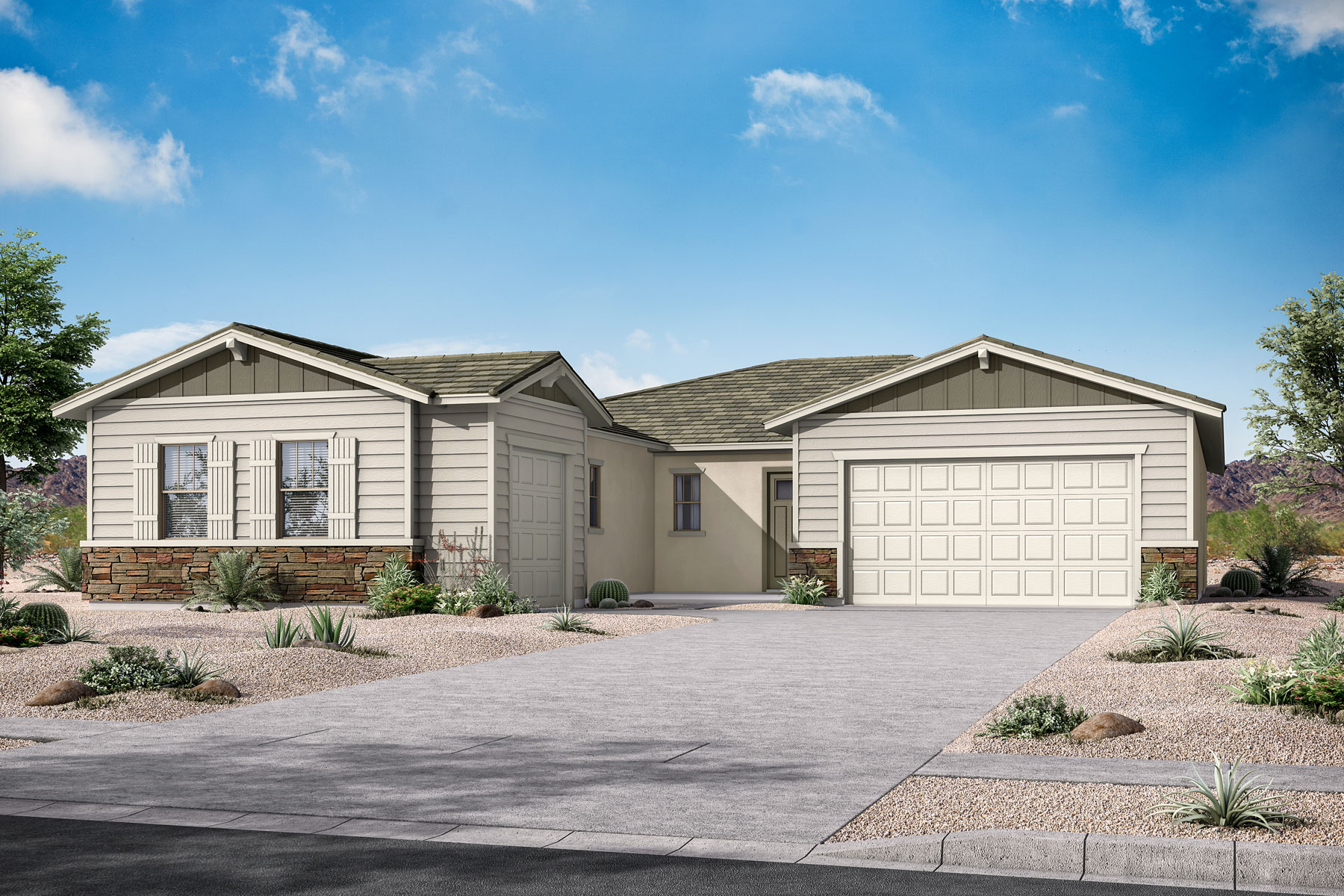 Beaumont Plan Elevation Front at Azure Canyon in Litchfield Park Arizona by Mattamy Homes