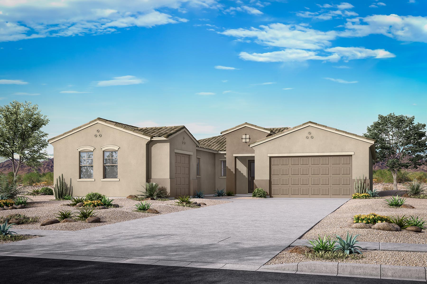 Caden Plan PHX_AzureCanyon_Beaumont_Spanish at Azure Canyon in Litchfield Park Arizona by Mattamy Homes
