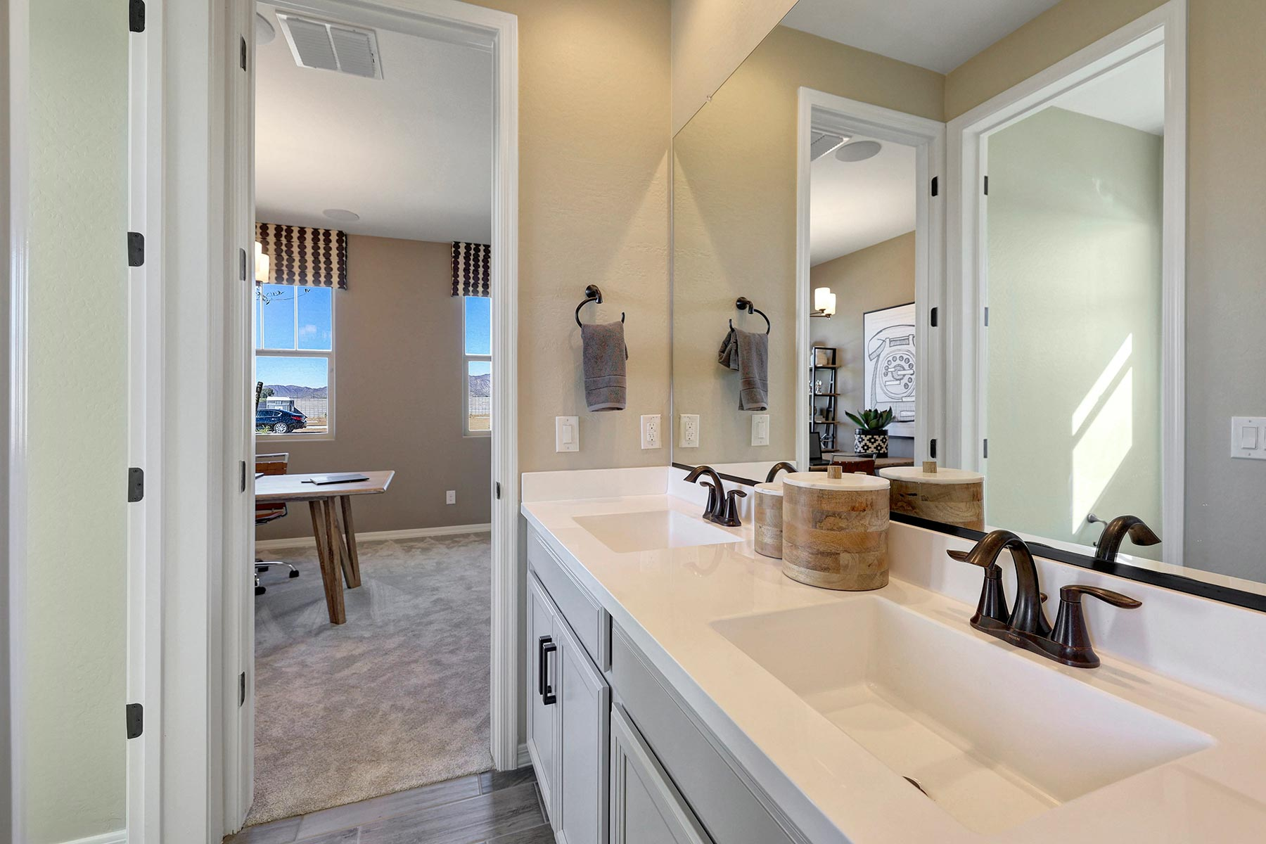 Bellwood Plan Bathroom_Master Bath at Azure Canyon in Goodyear Arizona by Mattamy Homes