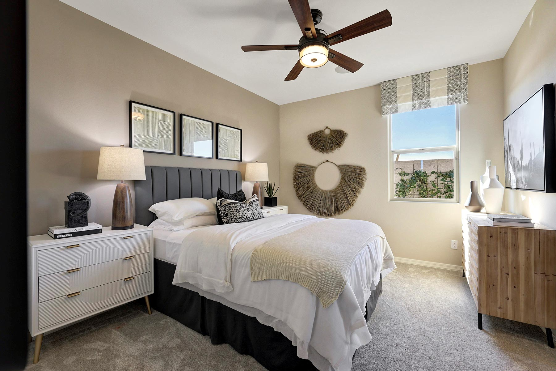 Bellwood Plan Bedroom at Azure Canyon in Goodyear Arizona by Mattamy Homes