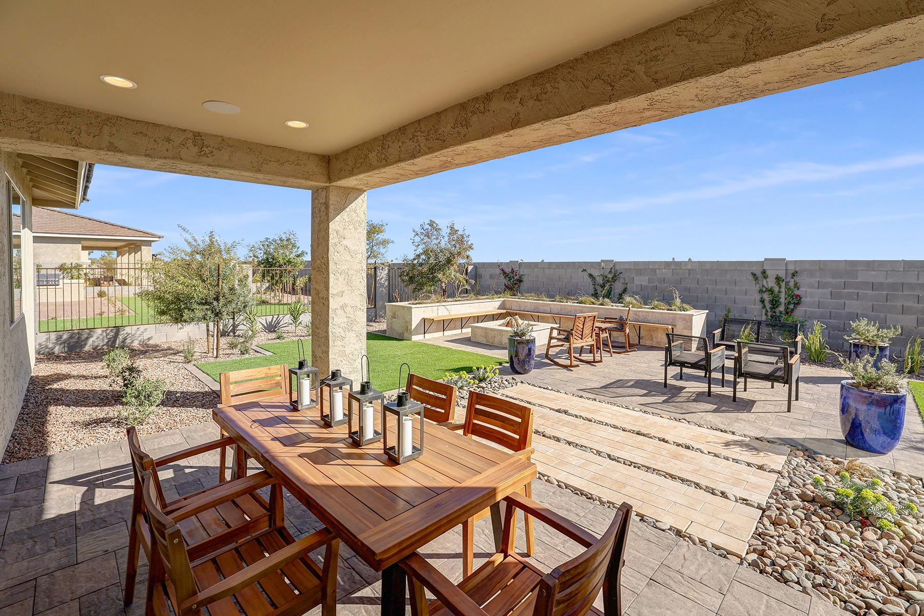 Bellwood Plan Patio at Azure Canyon in Goodyear Arizona by Mattamy Homes