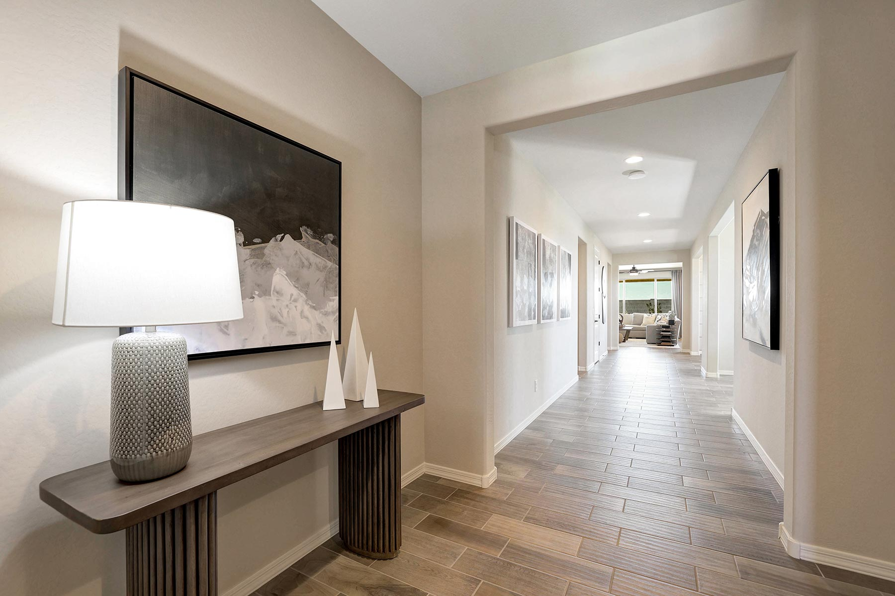 Bellwood Plan Hallway at Azure Canyon in Goodyear Arizona by Mattamy Homes