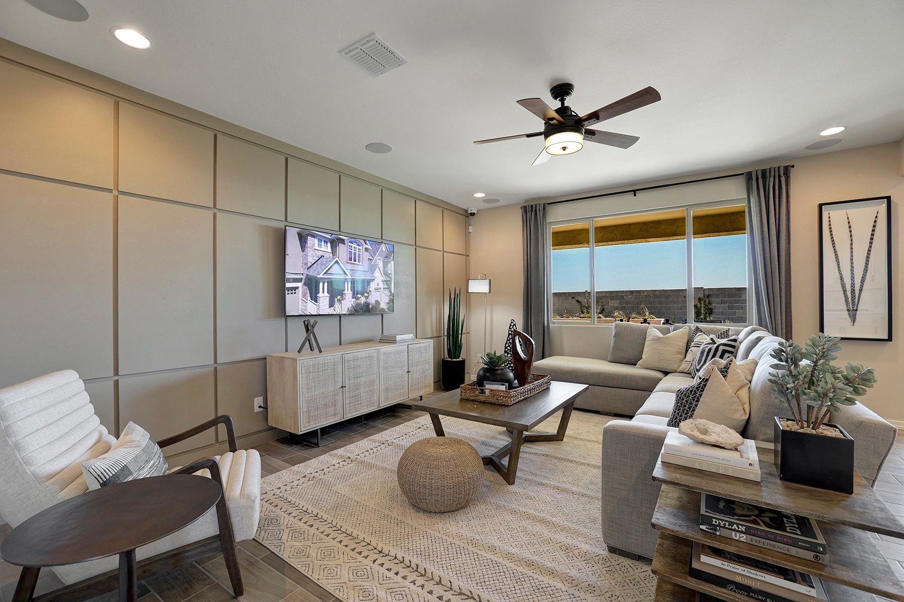 Bellwood Plan Greatroom at Azure Canyon in Goodyear Arizona by Mattamy Homes