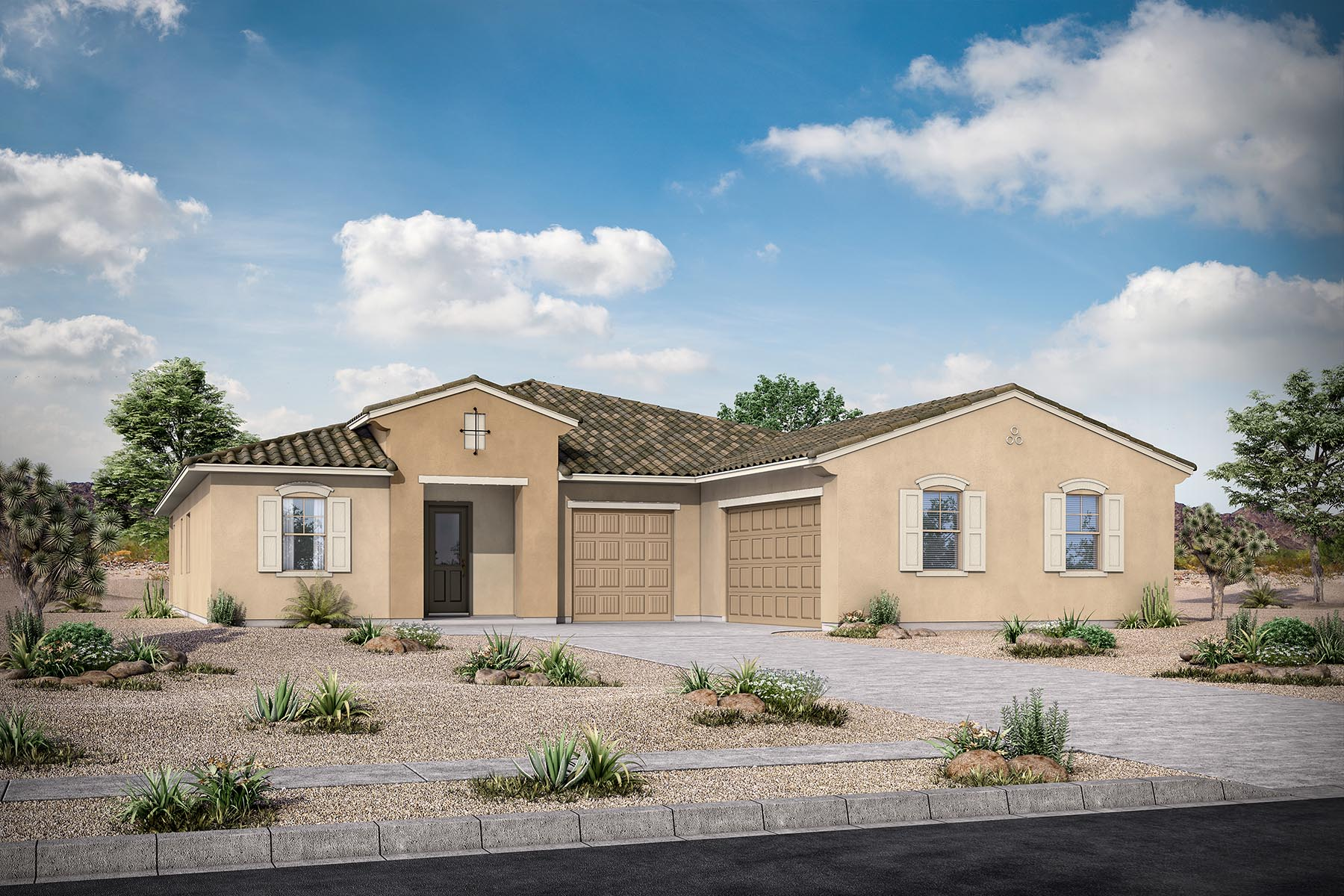 Brookstone Plan Elevation Front at Azure Canyon in Goodyear Arizona by Mattamy Homes