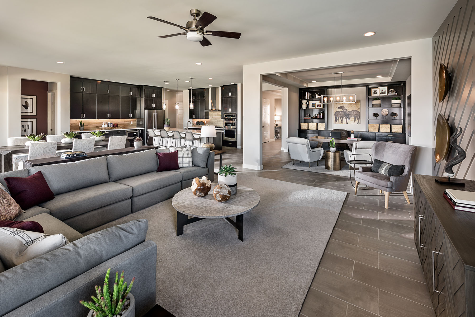 Brookstone Plan Greatroom at Azure Canyon in Litchfield Park Arizona by Mattamy Homes