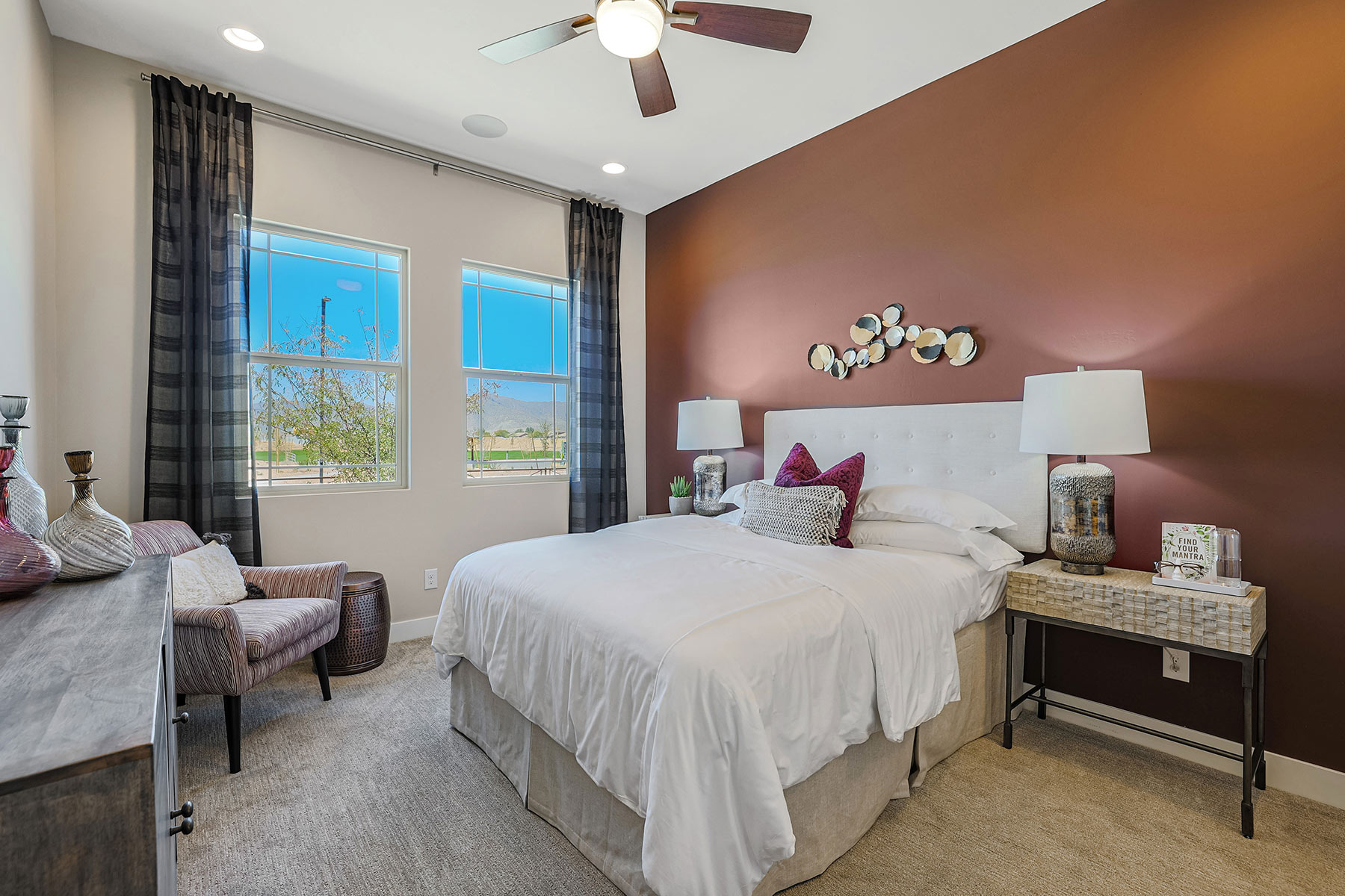 Brookstone Plan Bedroom at Azure Canyon in Litchfield Park Arizona by Mattamy Homes