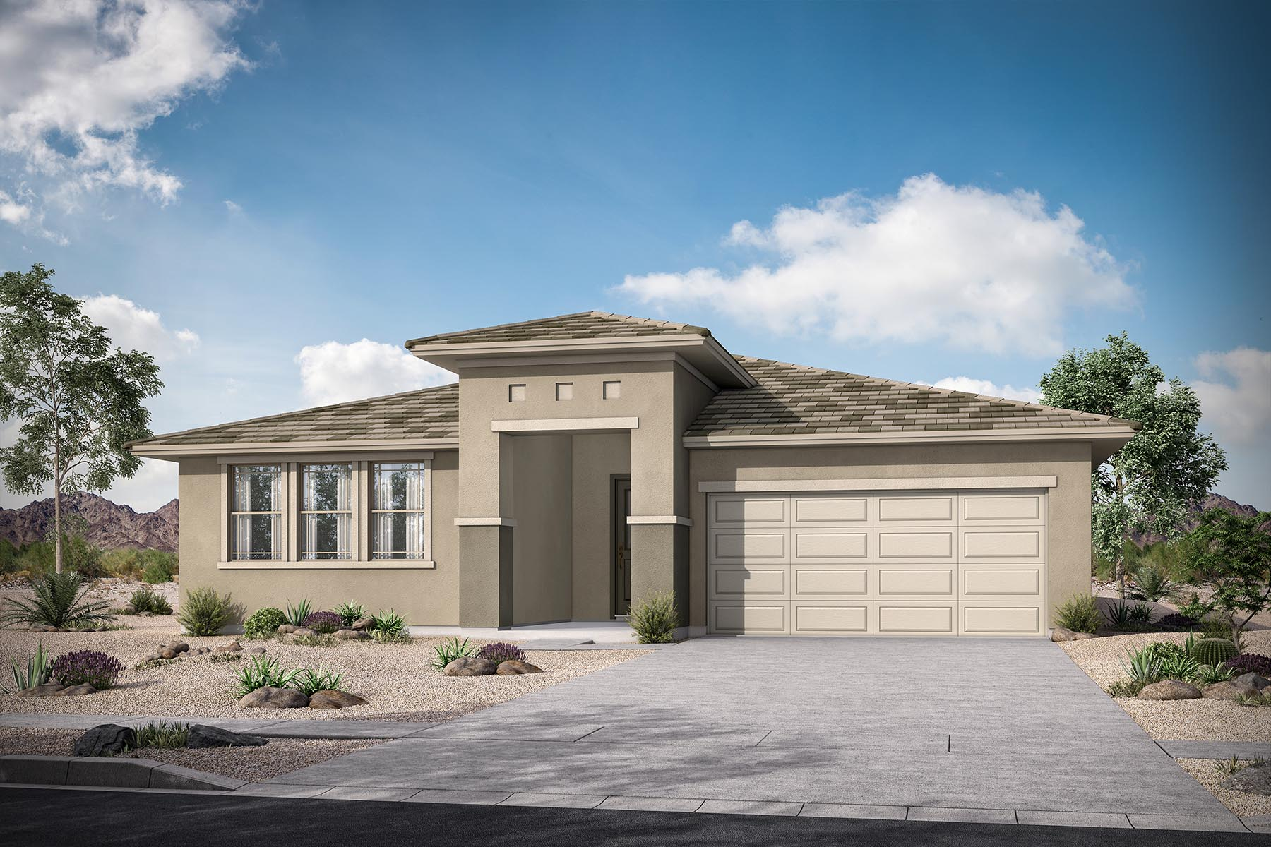 Caden Plan Elevation Front at Azure Canyon in Goodyear Arizona by Mattamy Homes