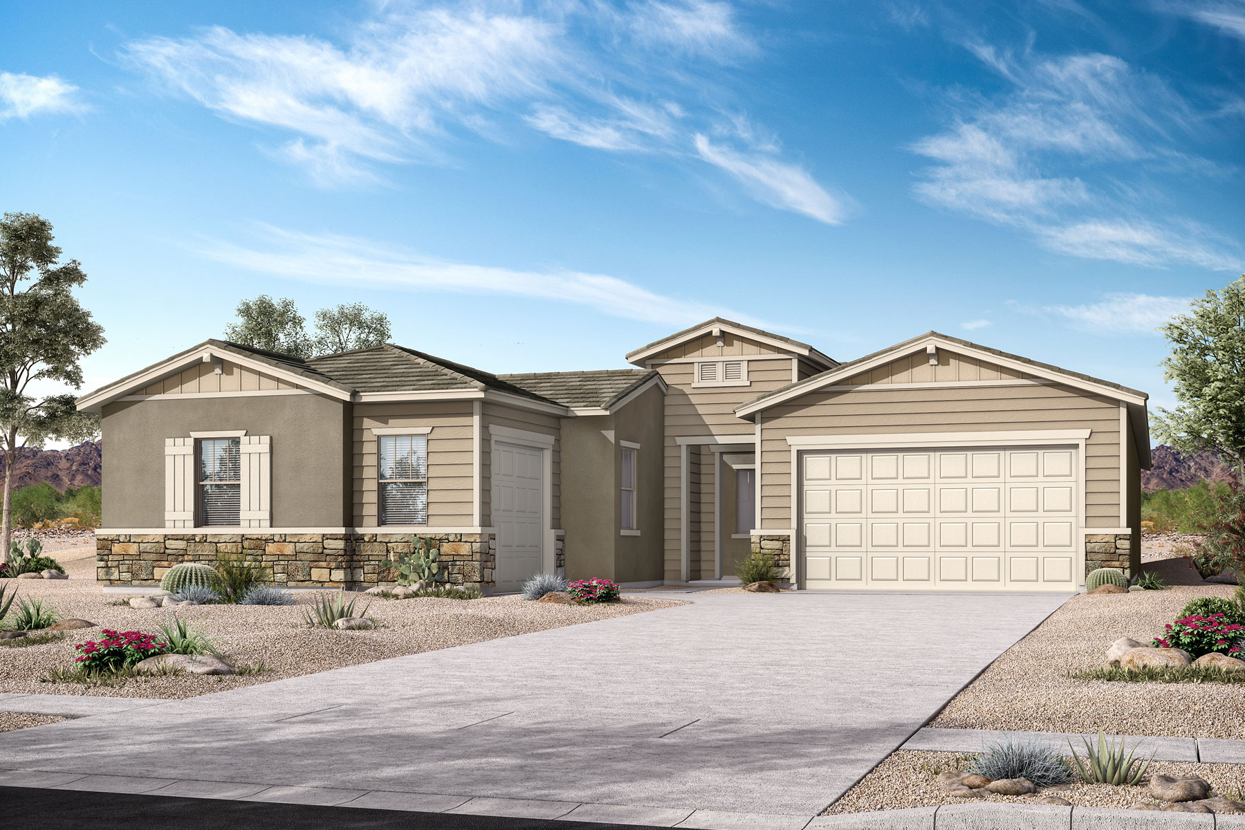 Castleton Plan Elevation Front at Azure Canyon in Goodyear Arizona by Mattamy Homes