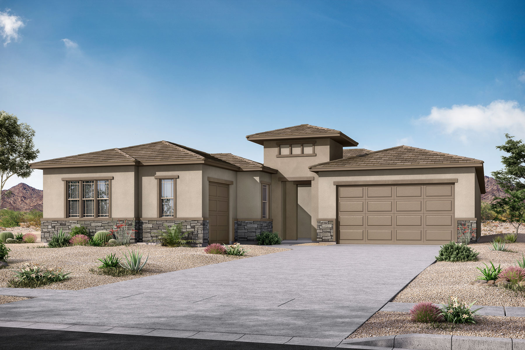 Castleton Plan Elevation Front at Azure Canyon in Litchfield Park Arizona by Mattamy Homes
