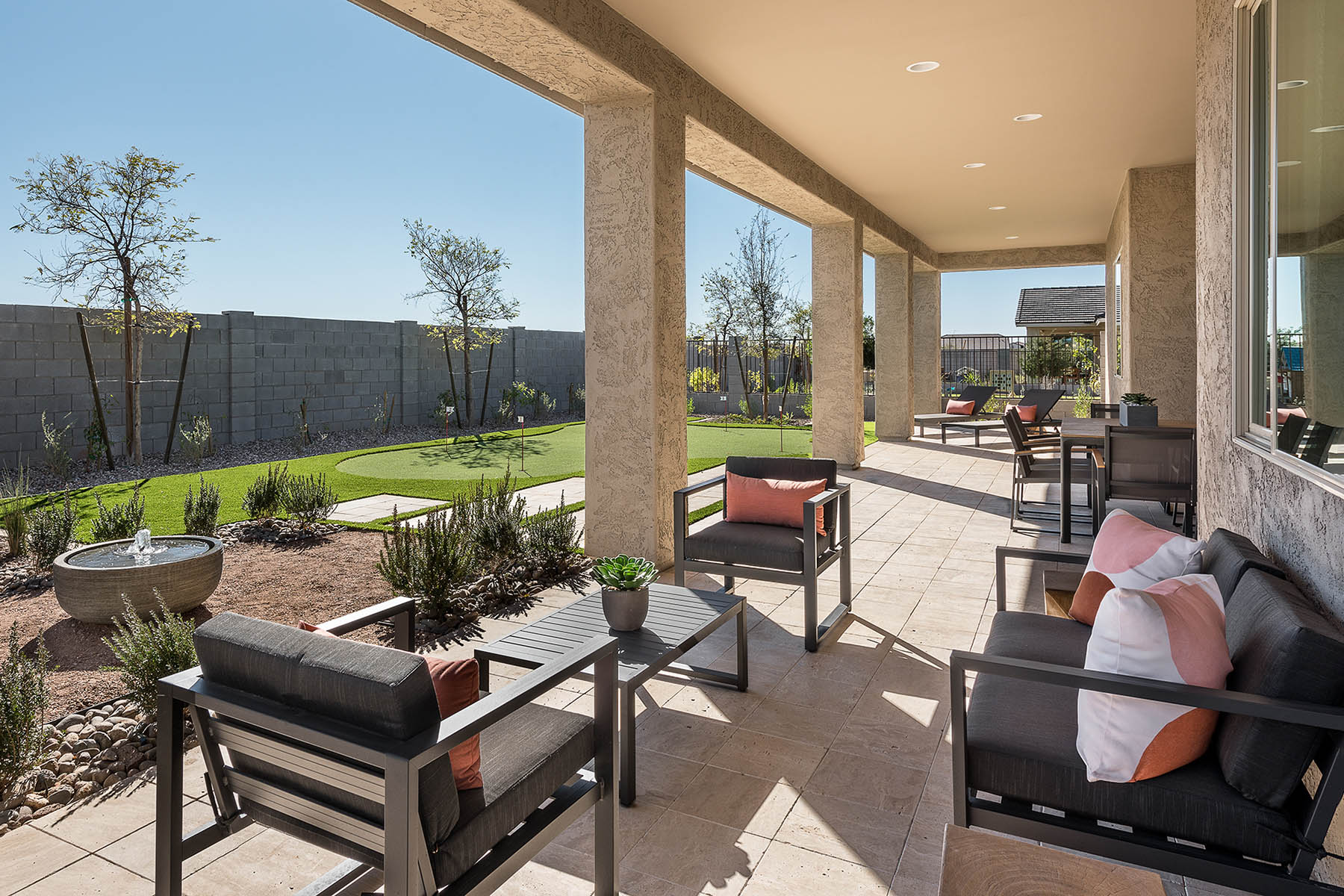 Castleton Plan Patio at Azure Canyon in Litchfield Park Arizona by Mattamy Homes