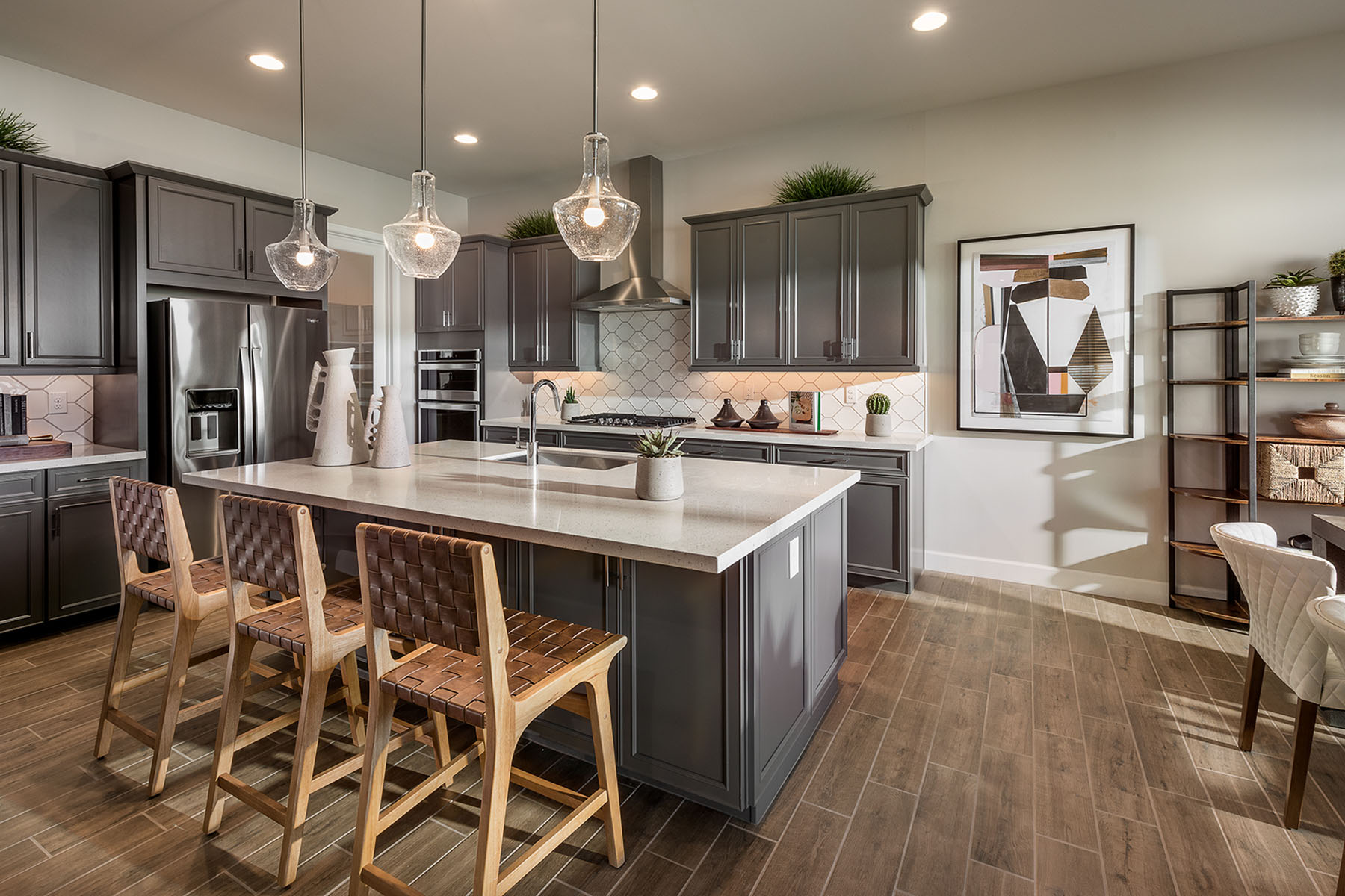 Caden Plan Kitchen at Azure Canyon in Litchfield Park Arizona by Mattamy Homes