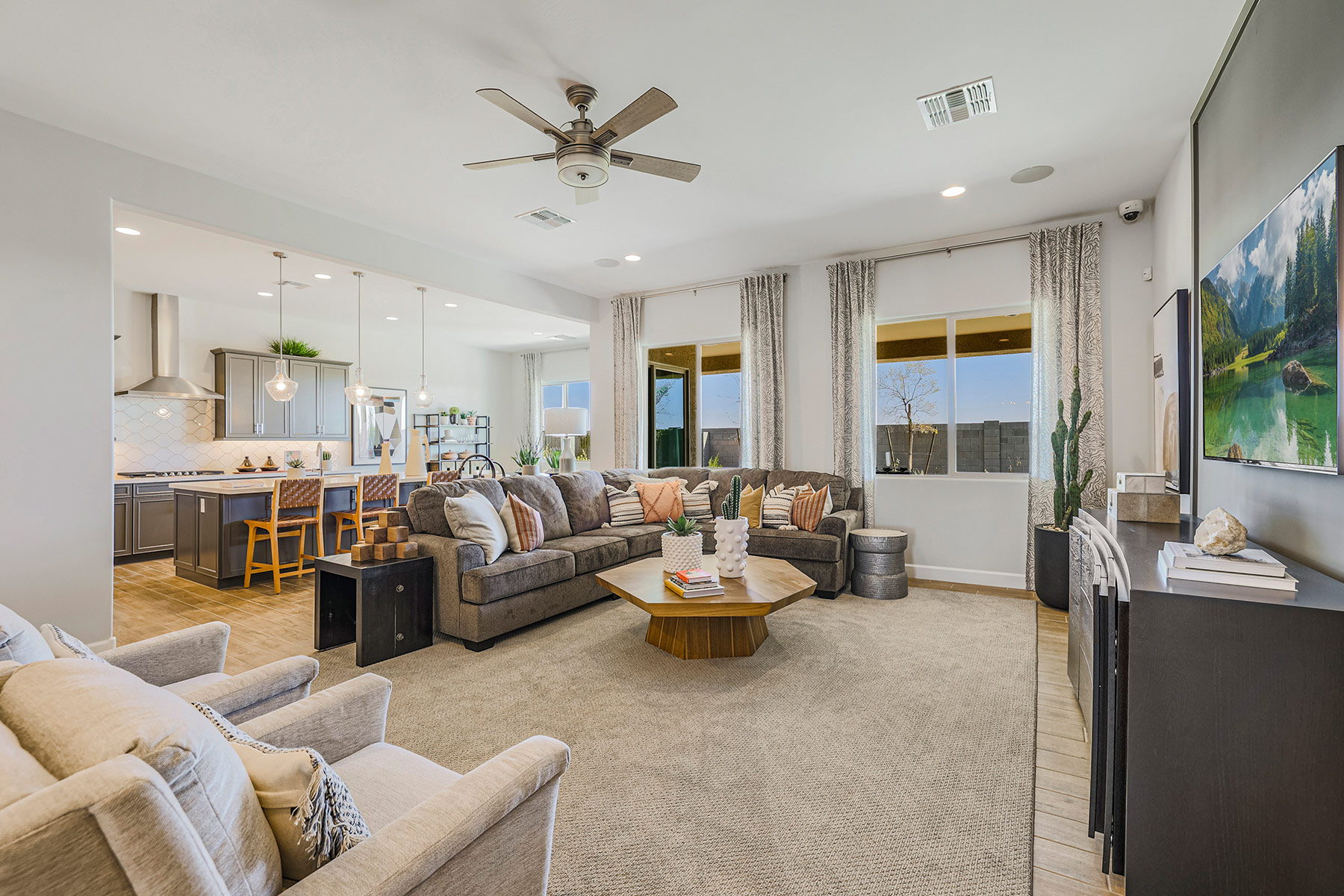 Castleton Plan Greatroom at Azure Canyon in Litchfield Park Arizona by Mattamy Homes