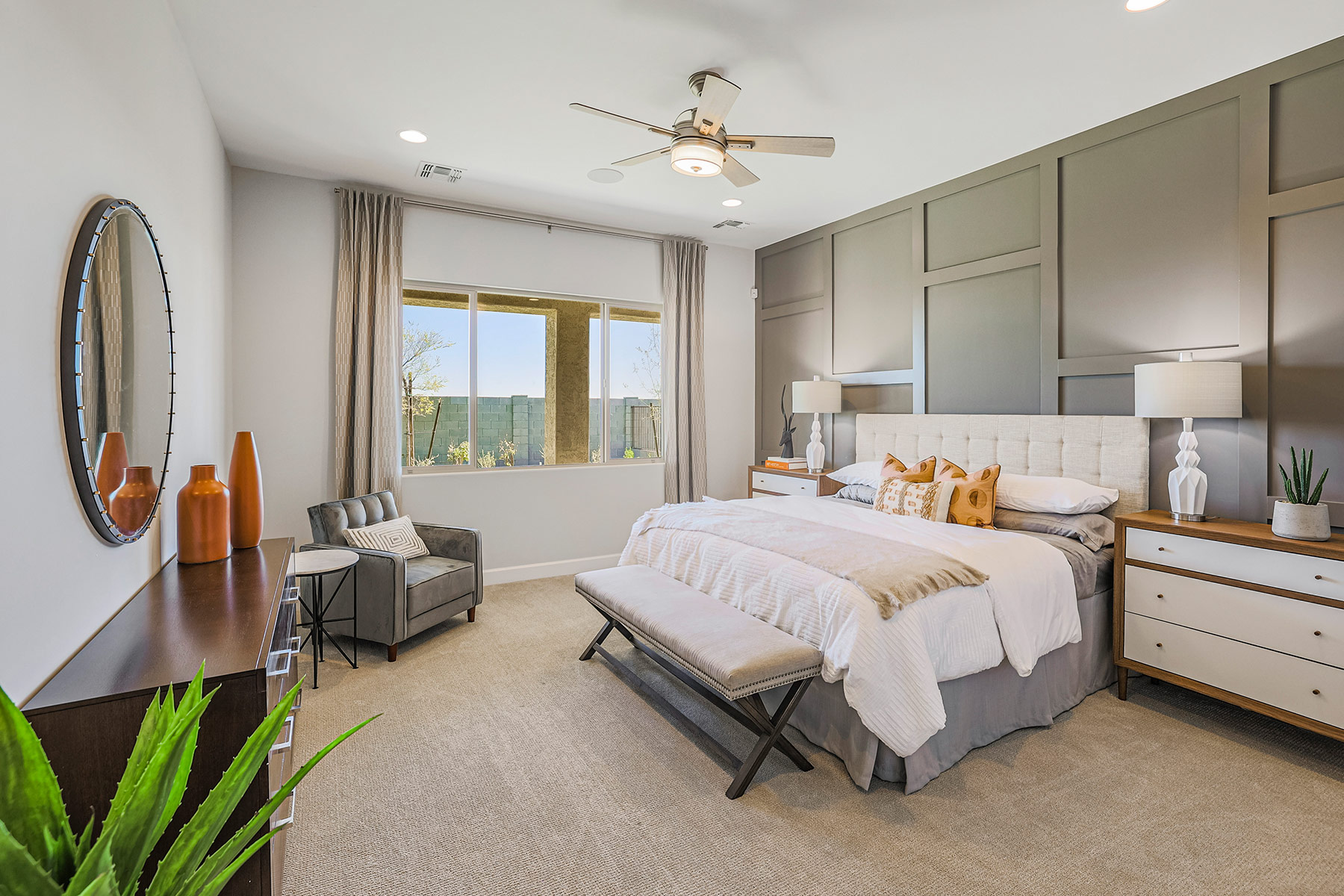 Castleton Plan Bedroom at Azure Canyon in Litchfield Park Arizona by Mattamy Homes