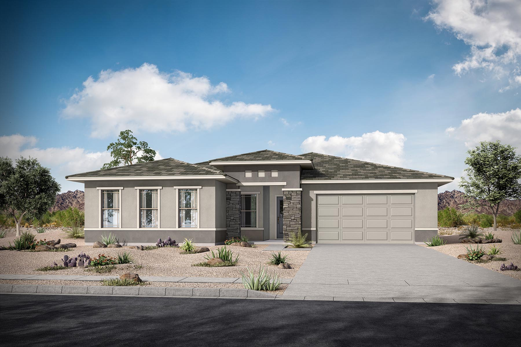 Fairway Plan Elevation Front at Azure Canyon in Goodyear Arizona by Mattamy Homes